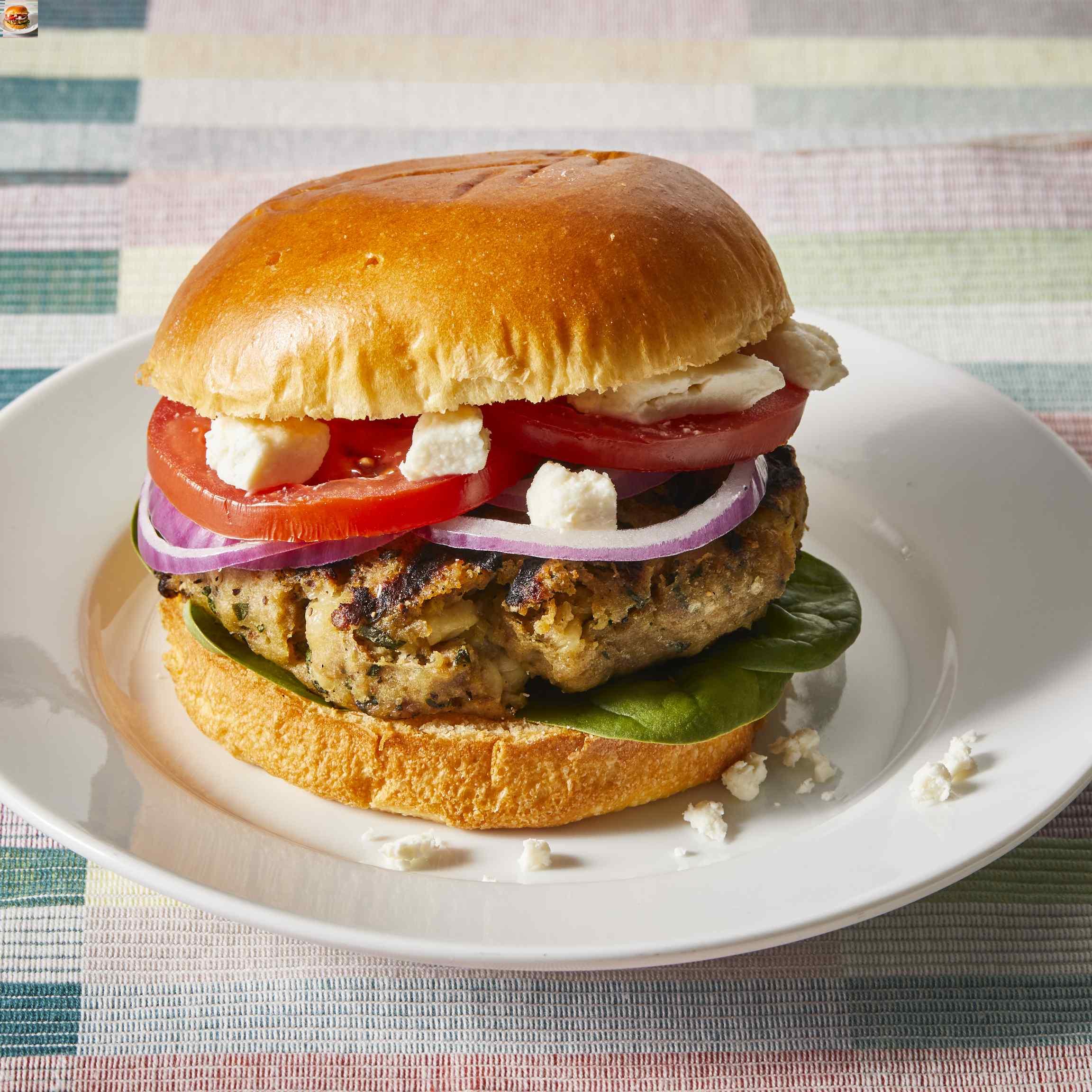 Greek Turkey Burgers Allrecipes Trusted Brands
