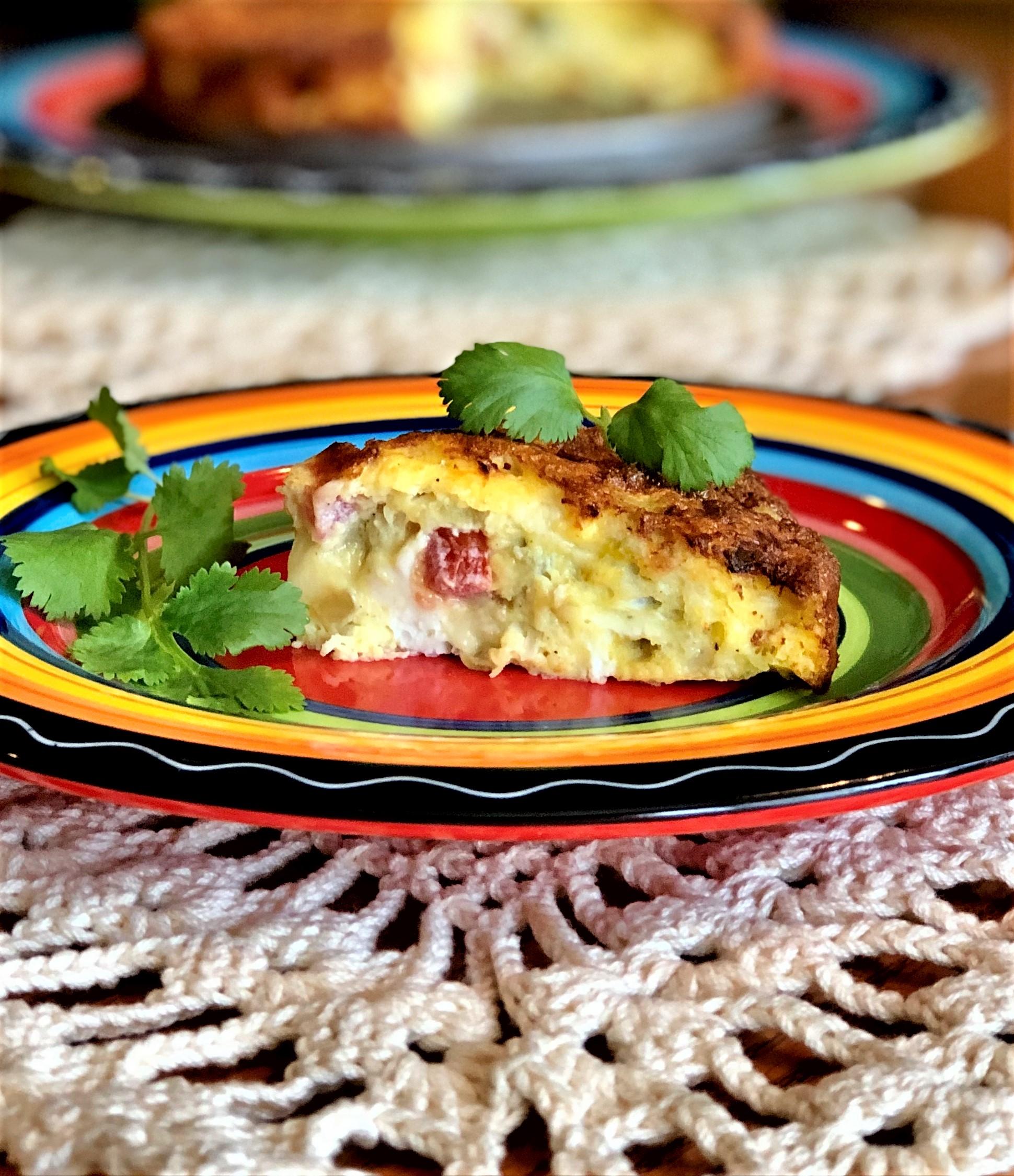 Air Fryer Chile-Cheese Frittata