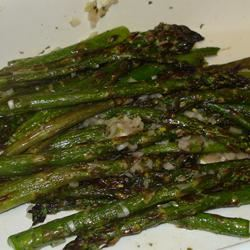 Broiled Asparagus with Lemon Tarragon Dressing Susan May