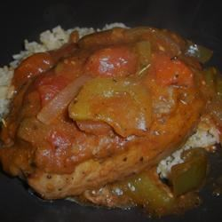 Tomato Pork Chops I Jillian Kuhlmann
