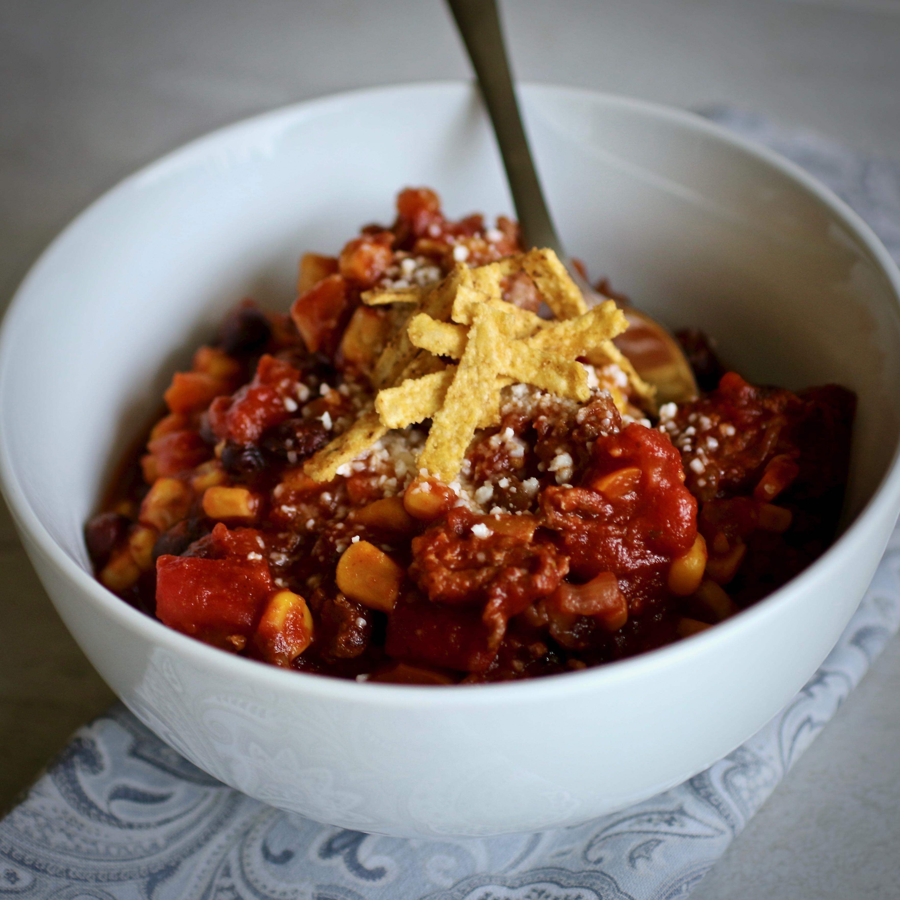 Mexican Chorizo Black Bean Chili