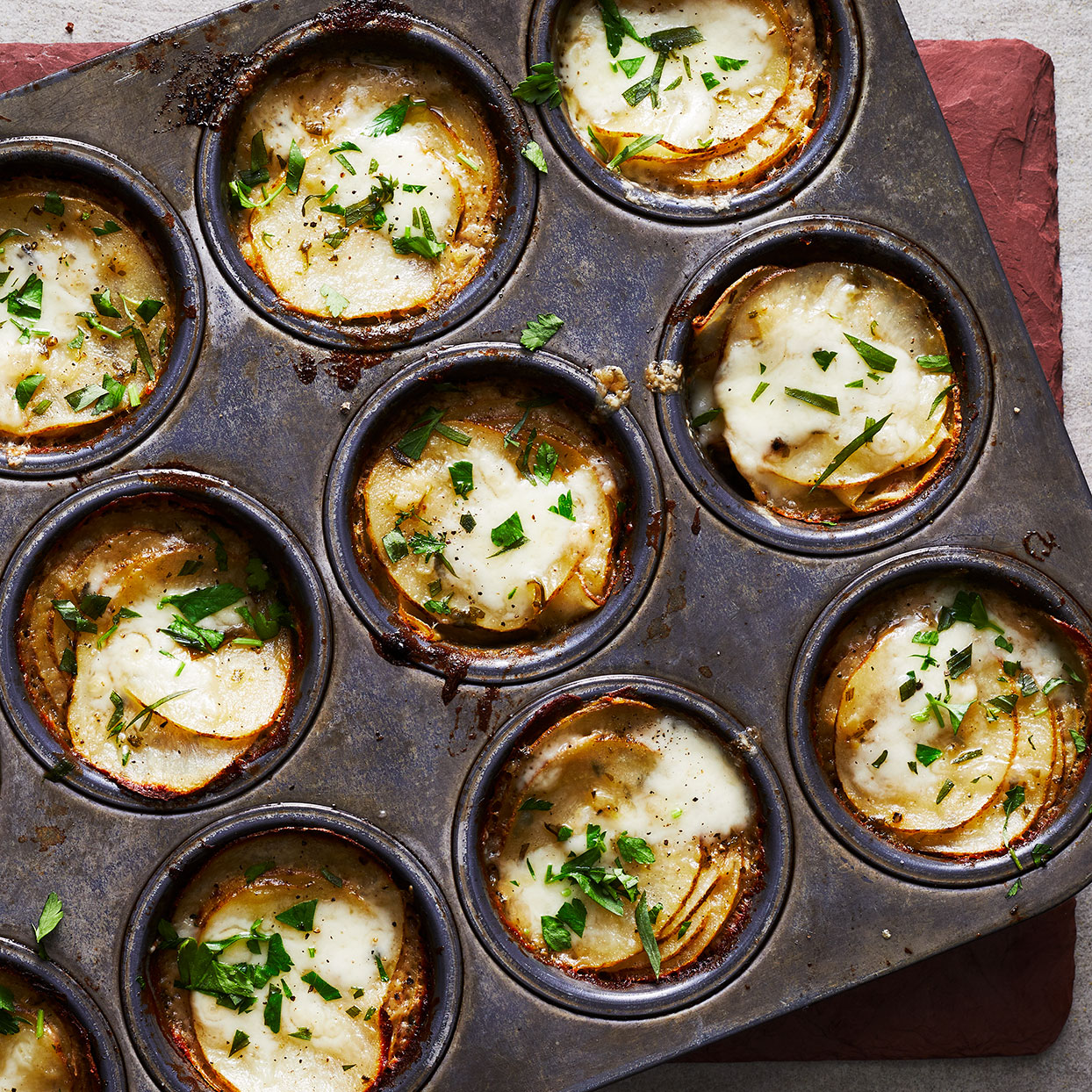 Muffin-Tin Potatoes Gratin Trusted Brands