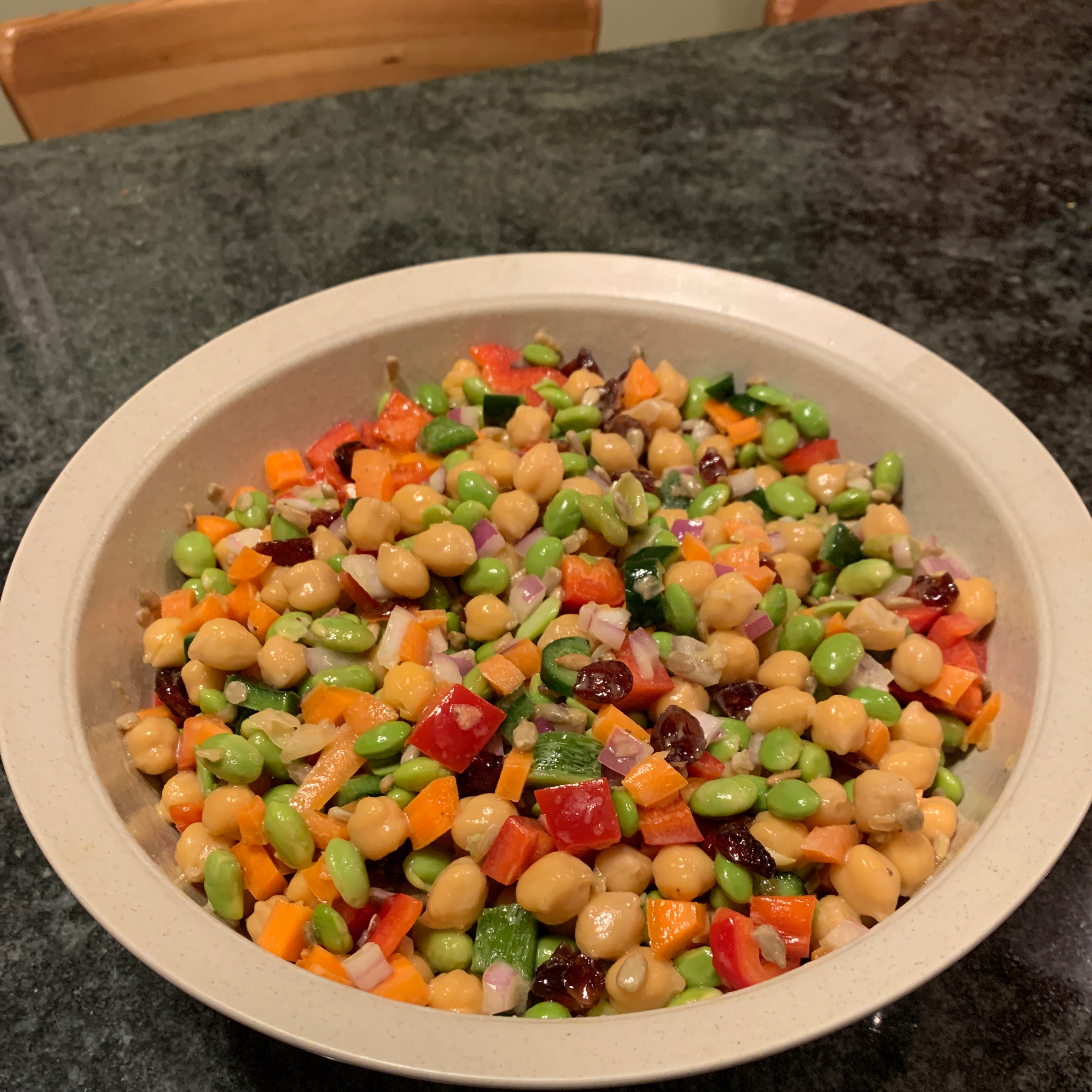 Chickpea and Edamame Salad Ray Reu