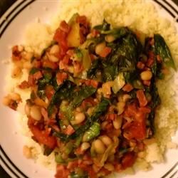 Super Filling Cannellini Bean and Escarole Dish