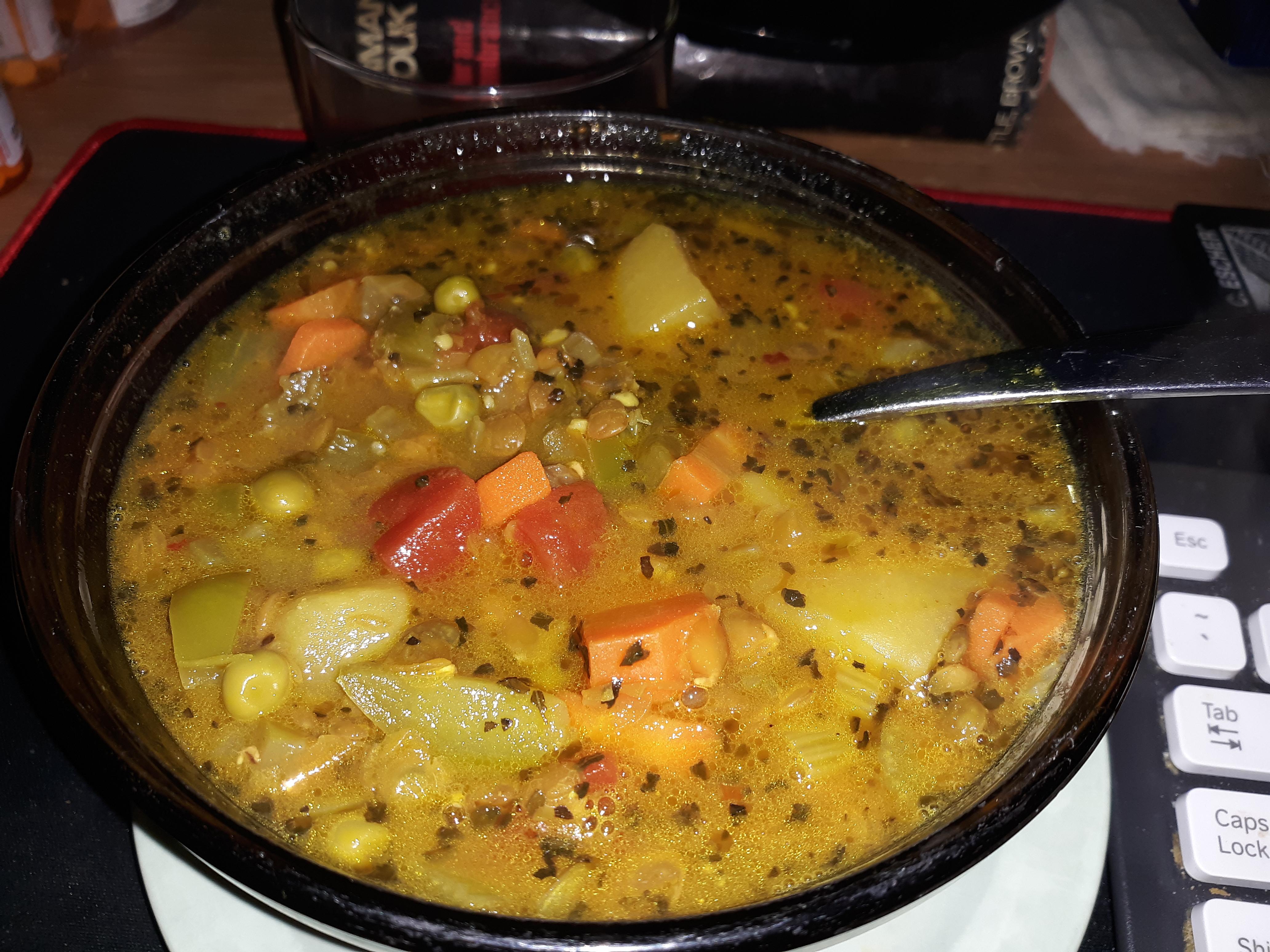Tomato-Curry Lentil Stew digitalsignalx