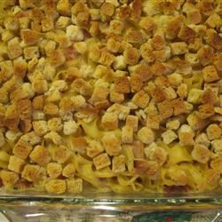 Easy Ham and Swiss Casserole JustTryingGoodOnes