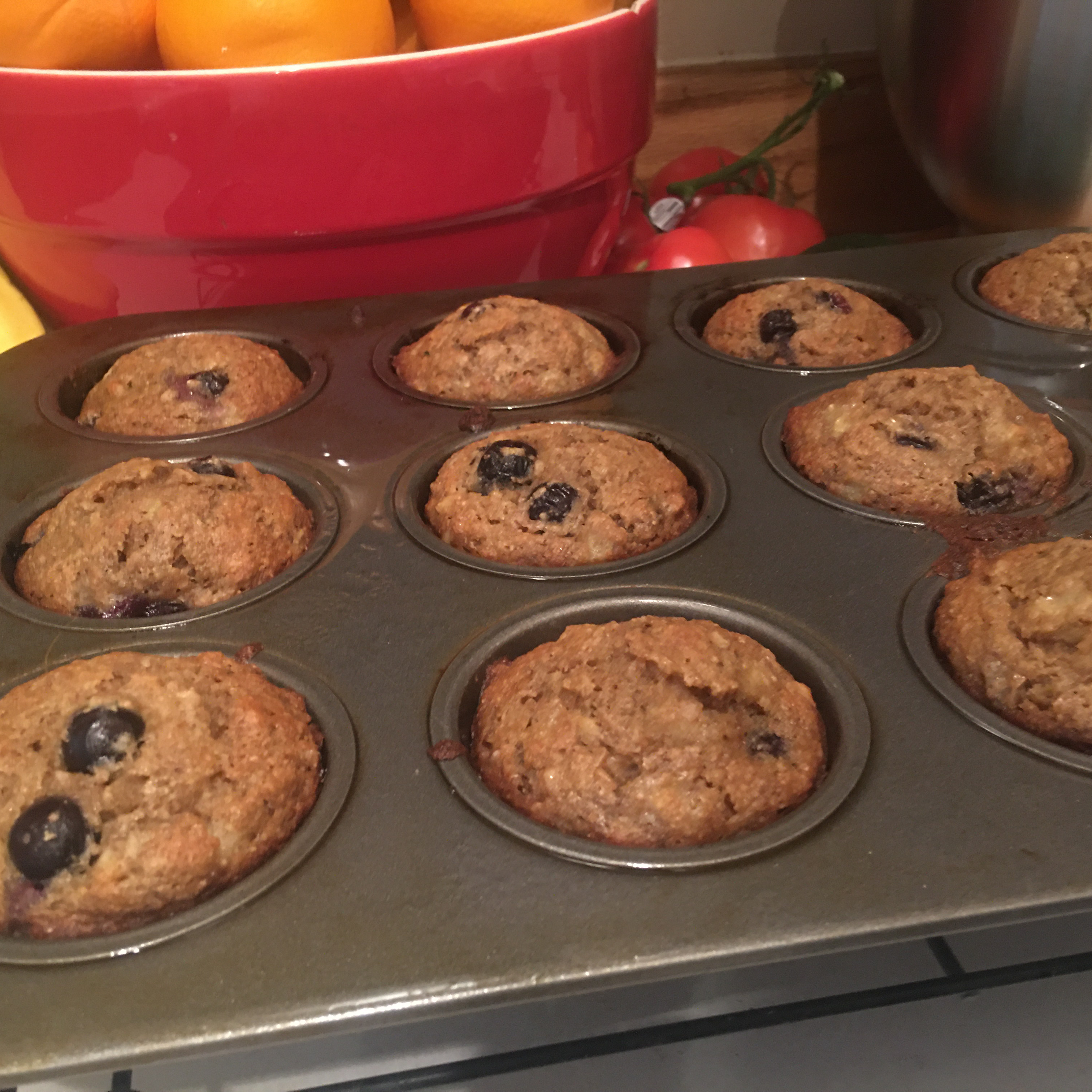 Delicious and Nutritious Whole Wheat Banana and Blueberry Muffins Keri Beirdneau