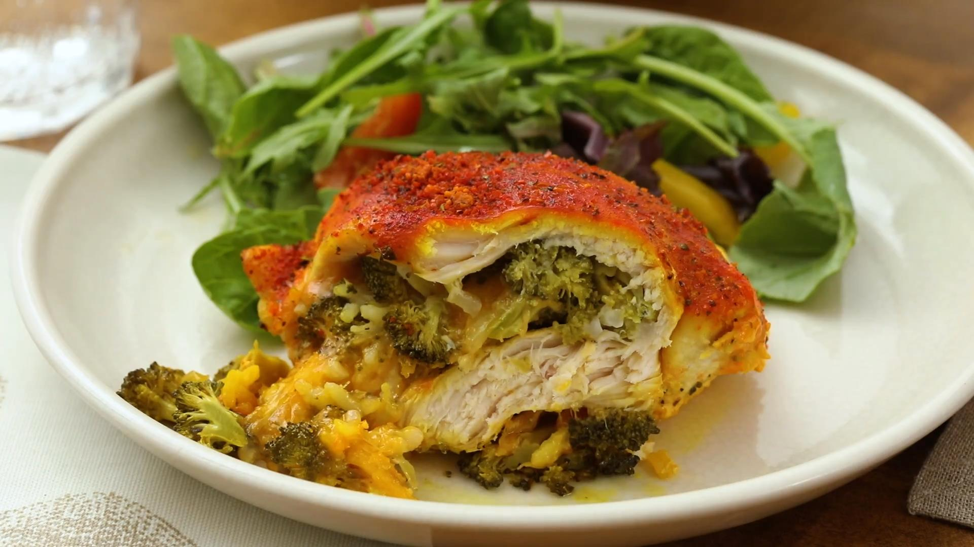Cheesy Broccoli-Stuffed Chicken Breasts