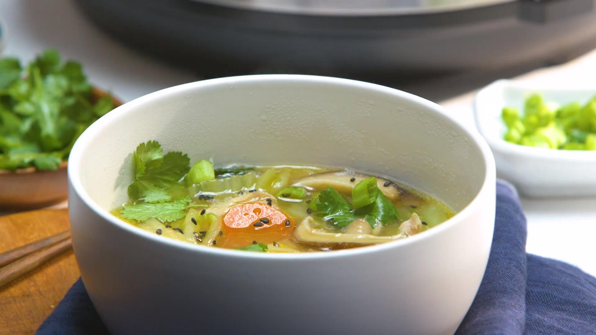 Chicken and Veggie Miso Soup (Instant Pot® Version) JoDee Phillips