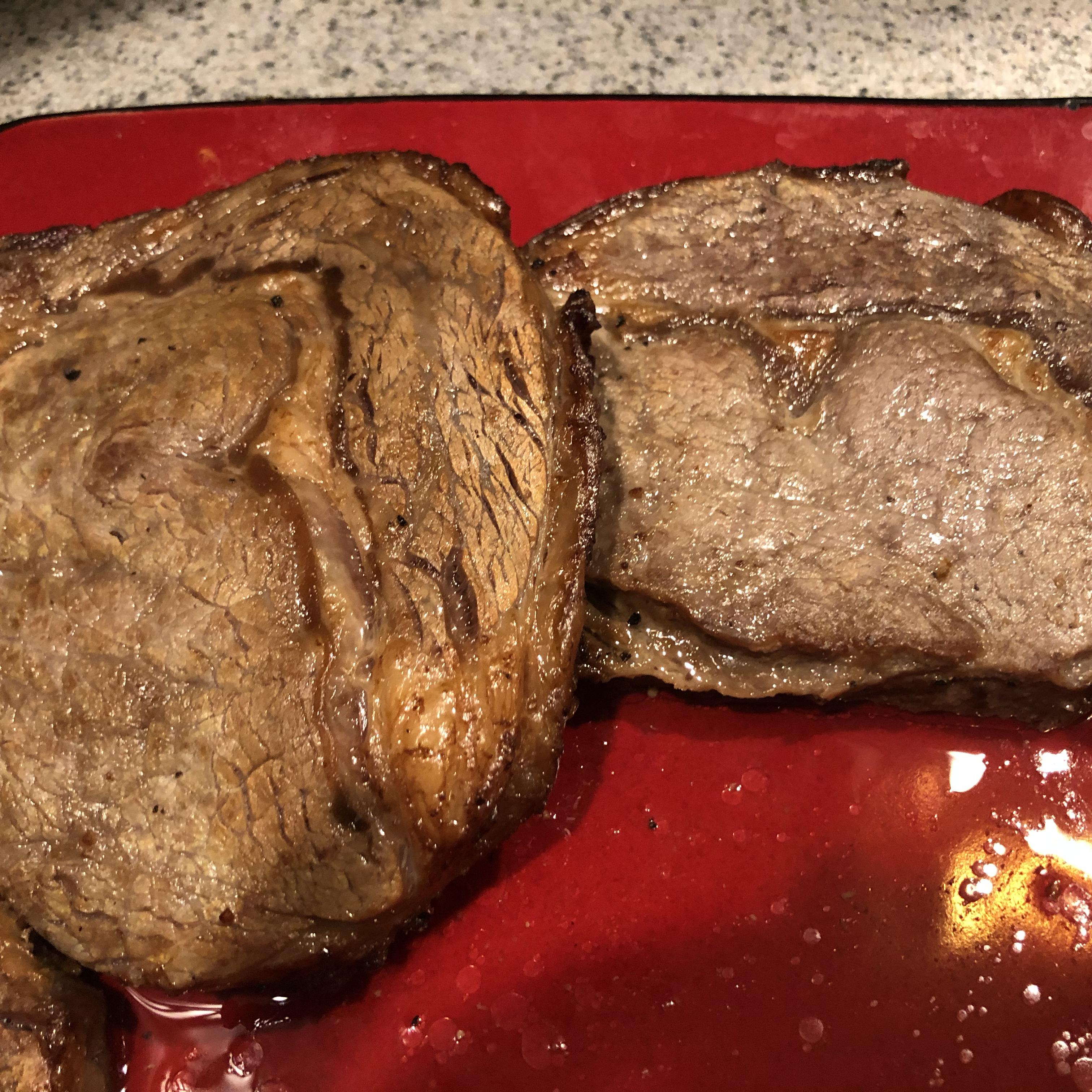 Air Fryer Rib-Eye Steak