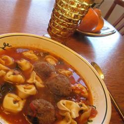 Italian Meatball and Cheese Tortellini Soup GourmetGirly