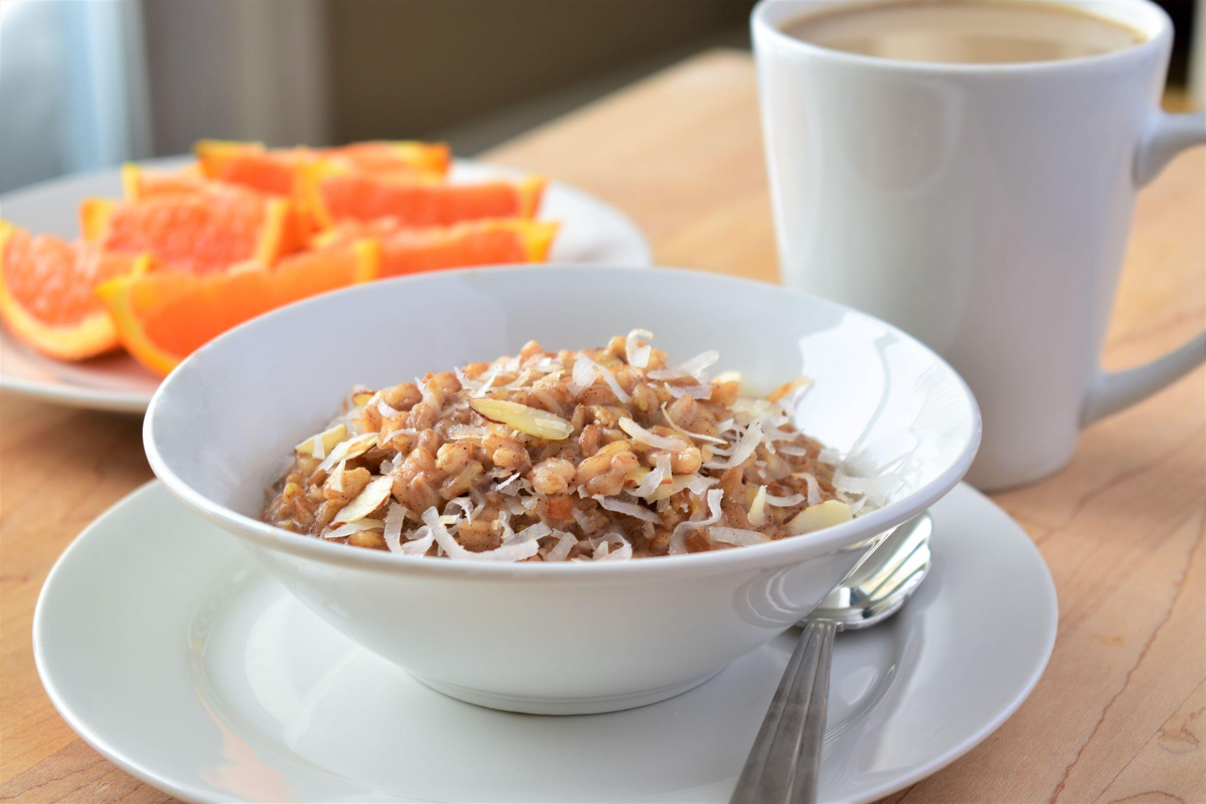 Coconut Farro Porridge