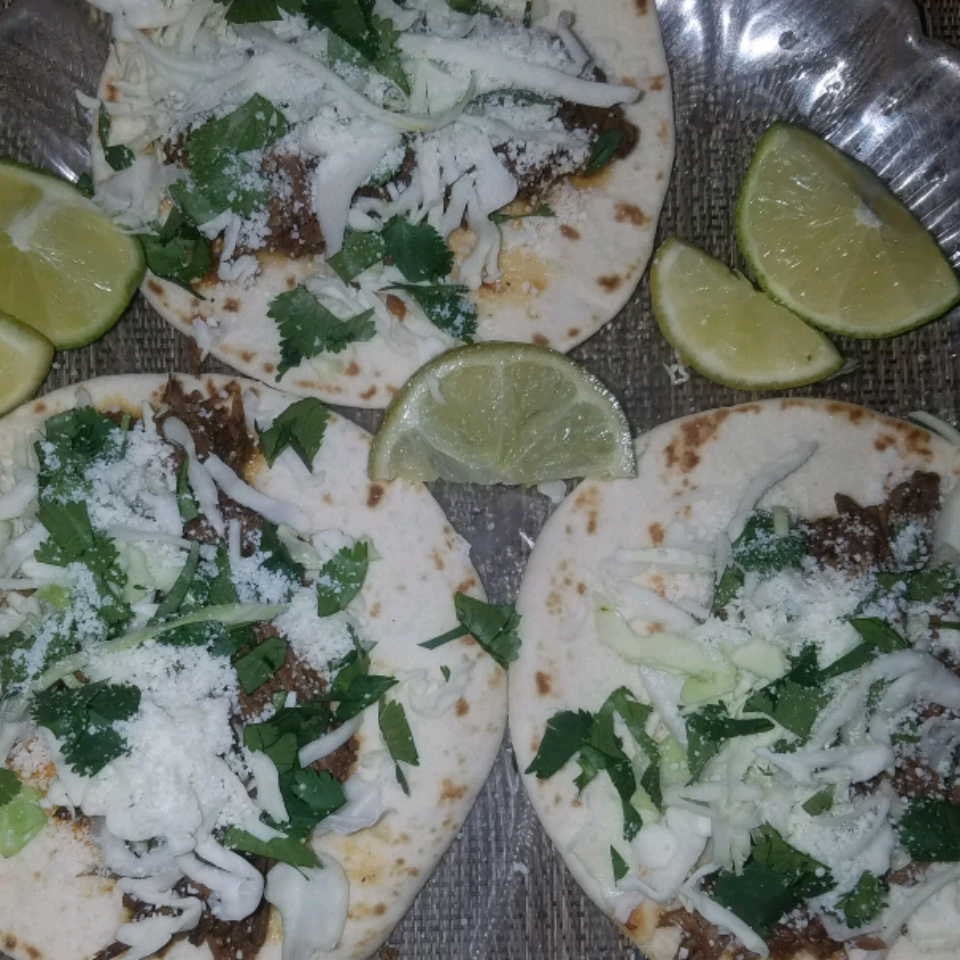 Shredded Beef Tacos with Lime Fiorella Covais