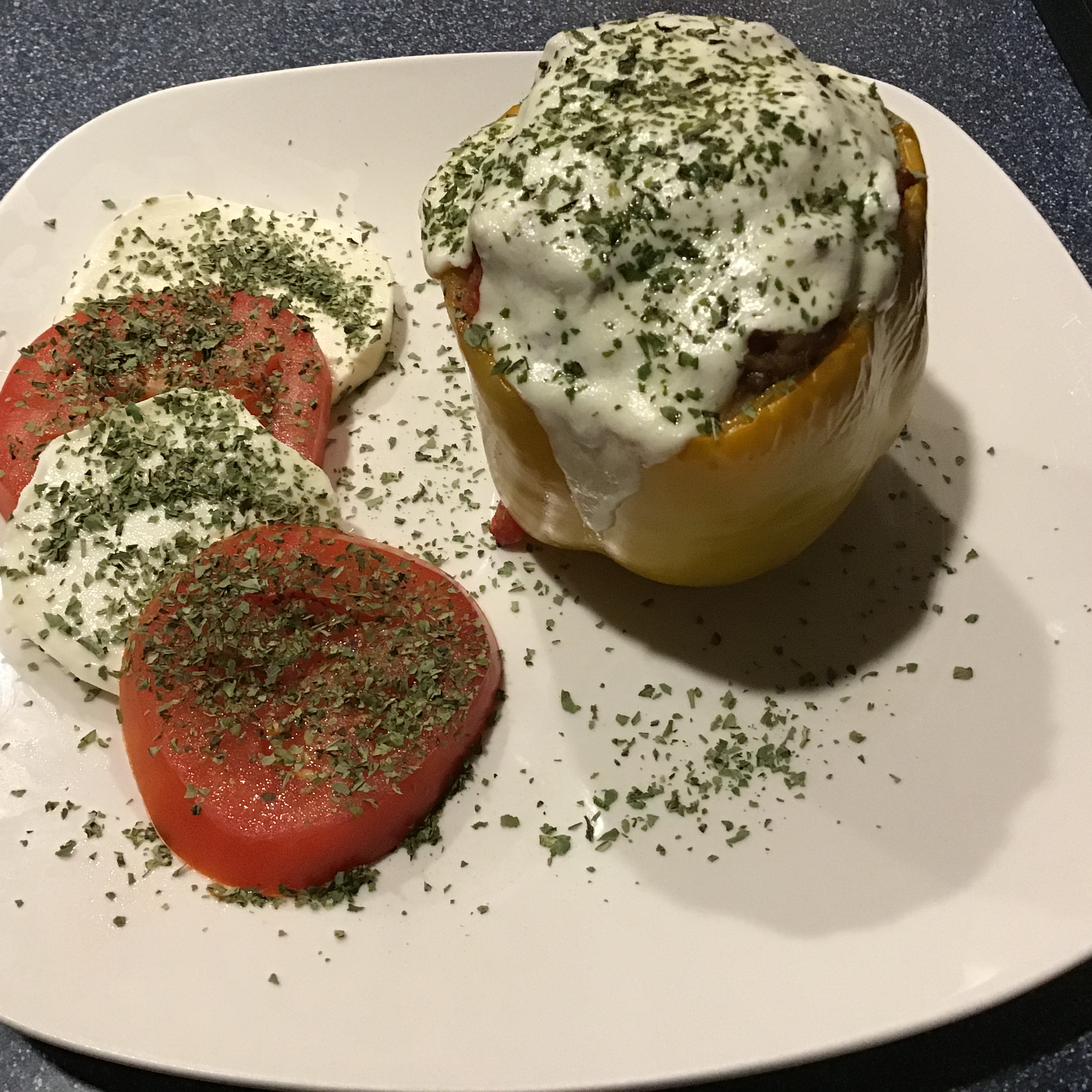 Bison and Brown Rice Stuffed Peppers Juls