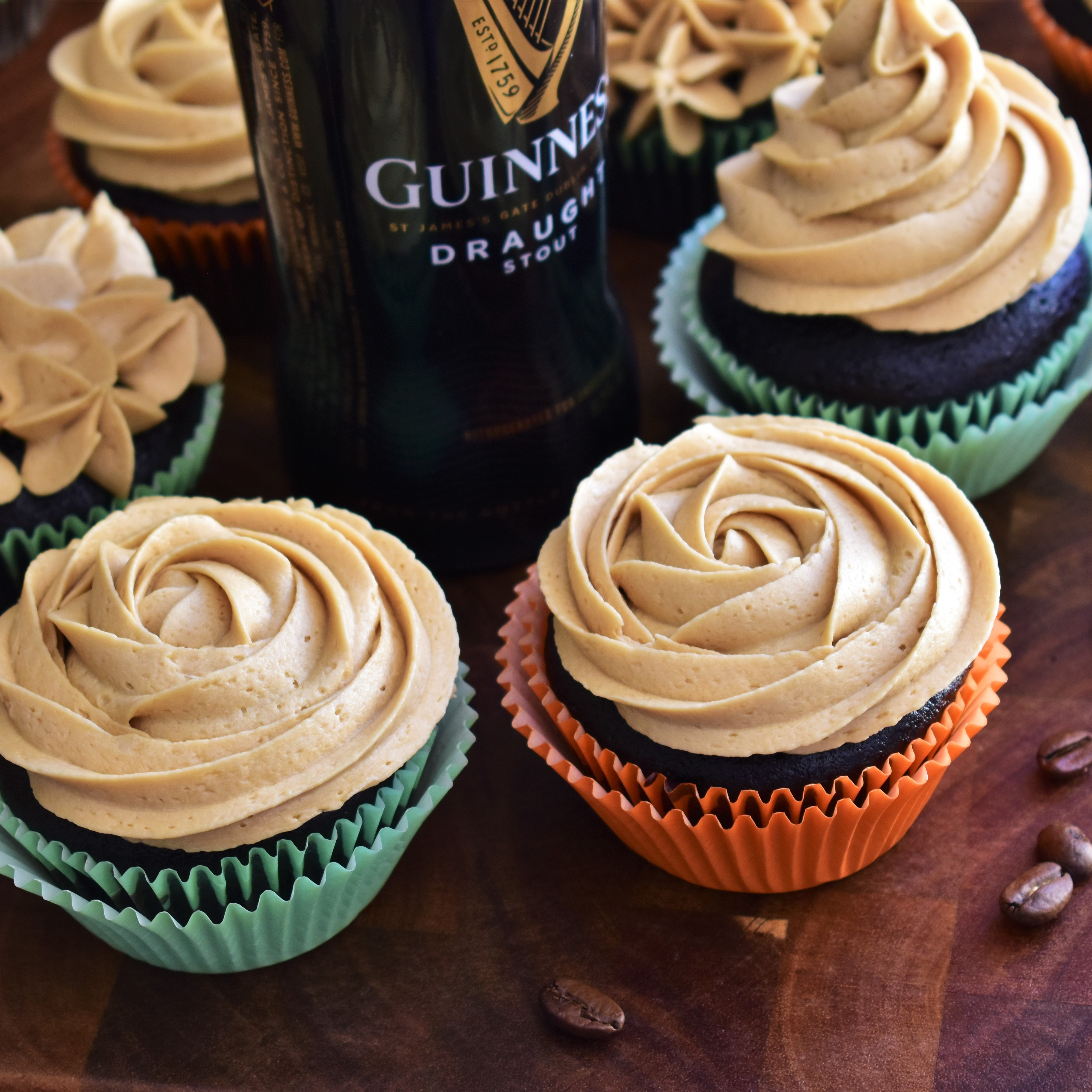 Guinness® Cupcakes with Espresso Frosting Kim