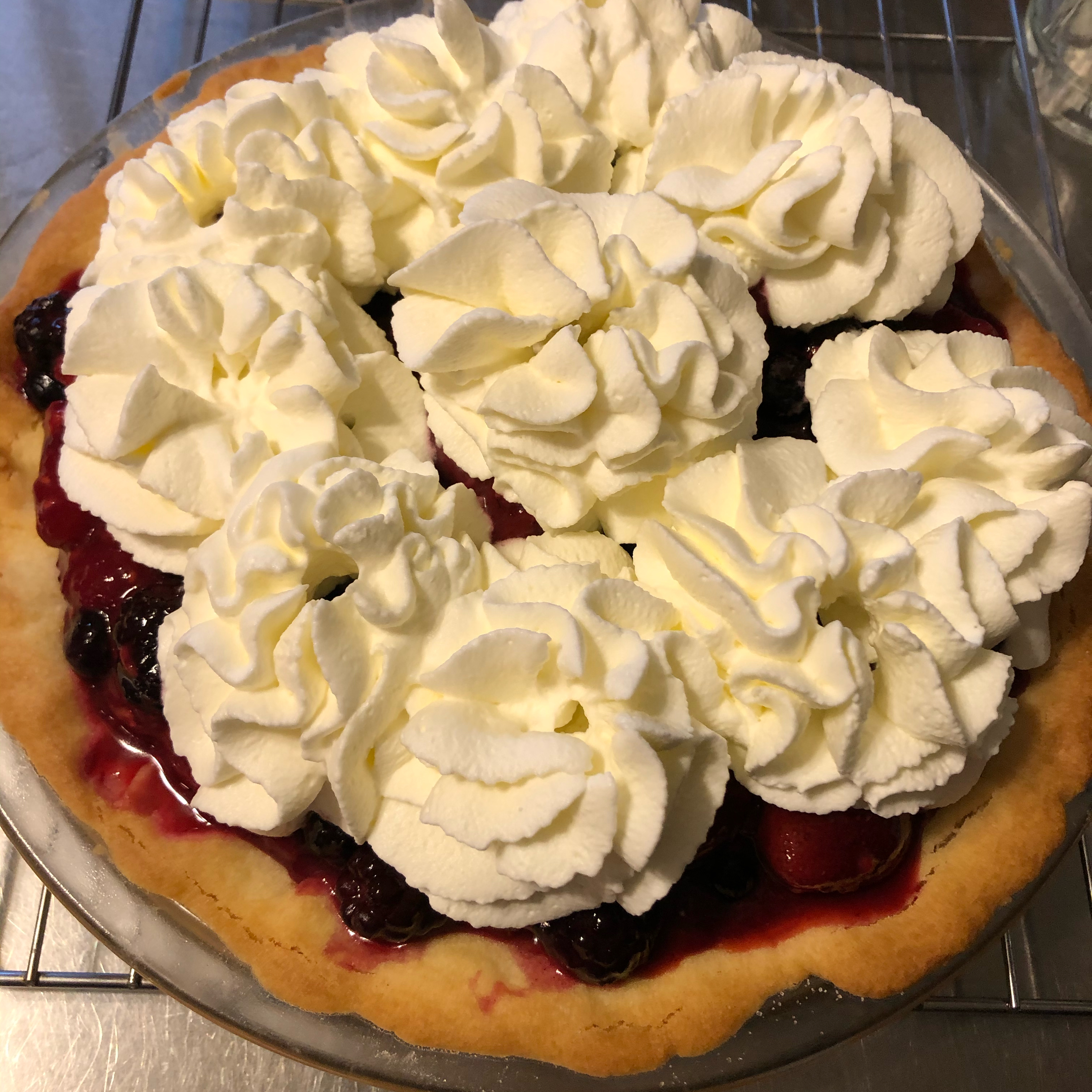 Fresh No-Bake Fruit Pie