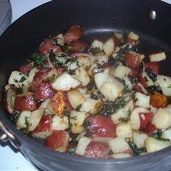 Cilantro and Garlic Potatoes mmm.goodeats
