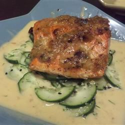 Ginger-Scallion Crusted Salmon intermak