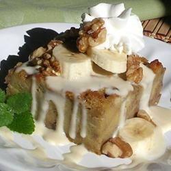 Walnut Banana Bread Pudding