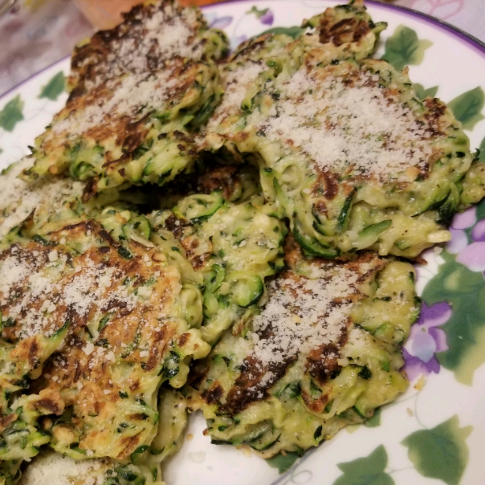 Zucchini-Parmesan Cheese Fritters Cecilia N Jeff