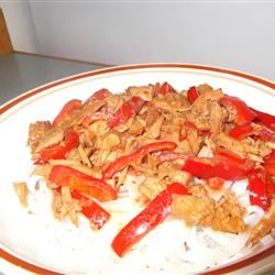 Slow Cooker Thai Pork with Peppers Sarahluella