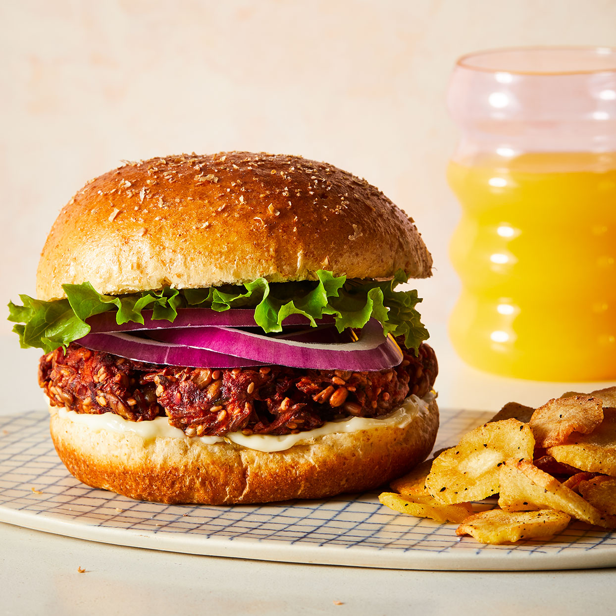 Beet Burgers Adapted by EatingWell Test Kitchen