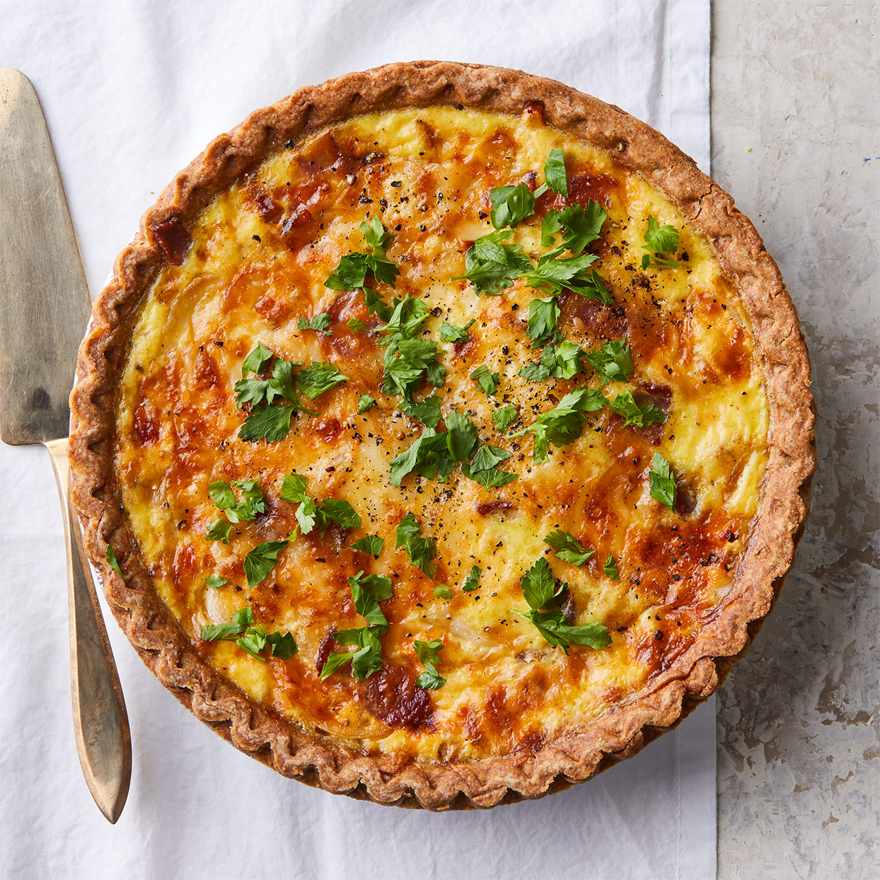 Quiche Lorraine is a classic French dish that makes for a hearty breakfast, lunch or dinner. Source: EatingWell Magazine, April 2020
