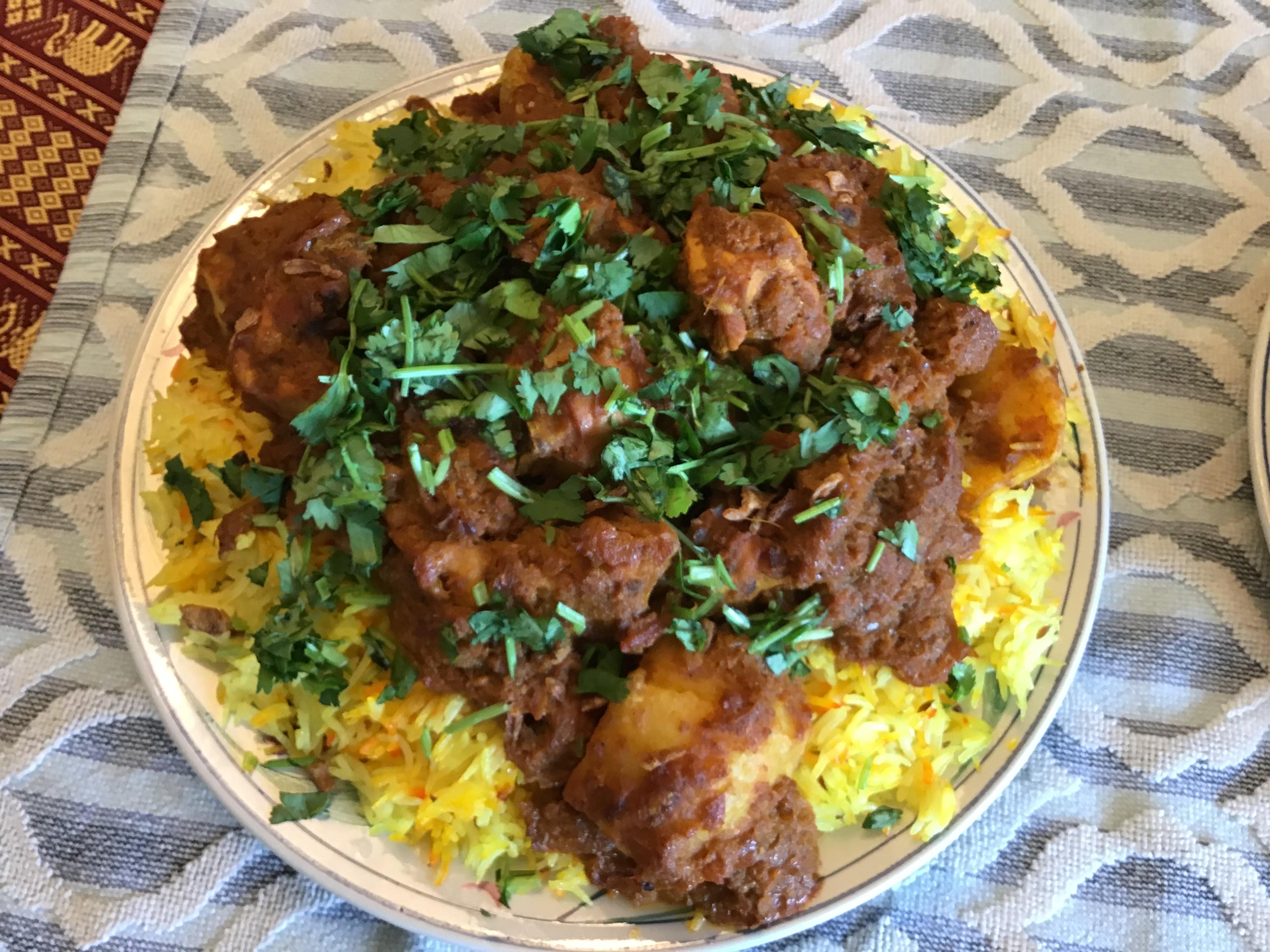 Biryani with Yogurt Marinated Chicken azzy