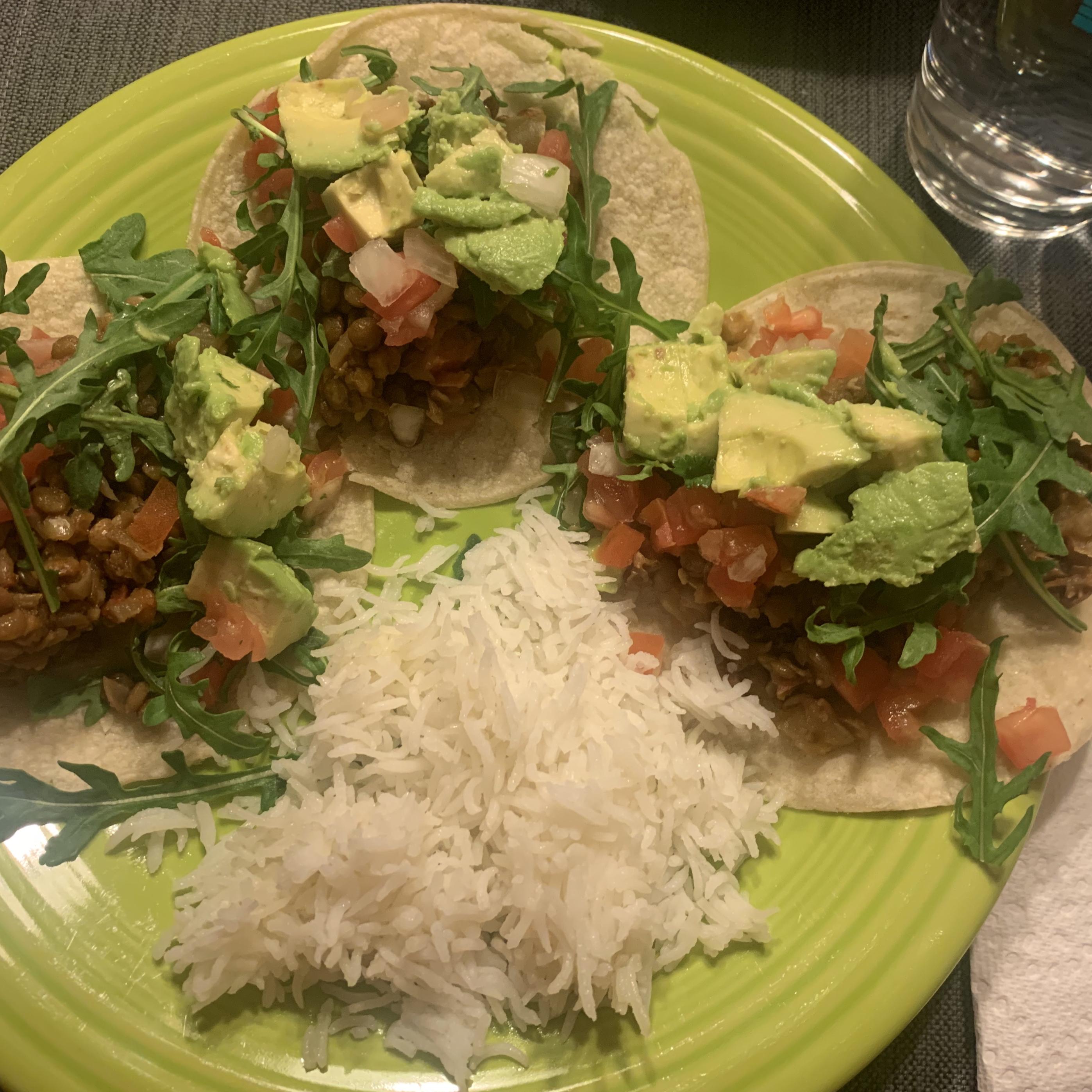 Tasty Lentil Tacos Rachel A. P.