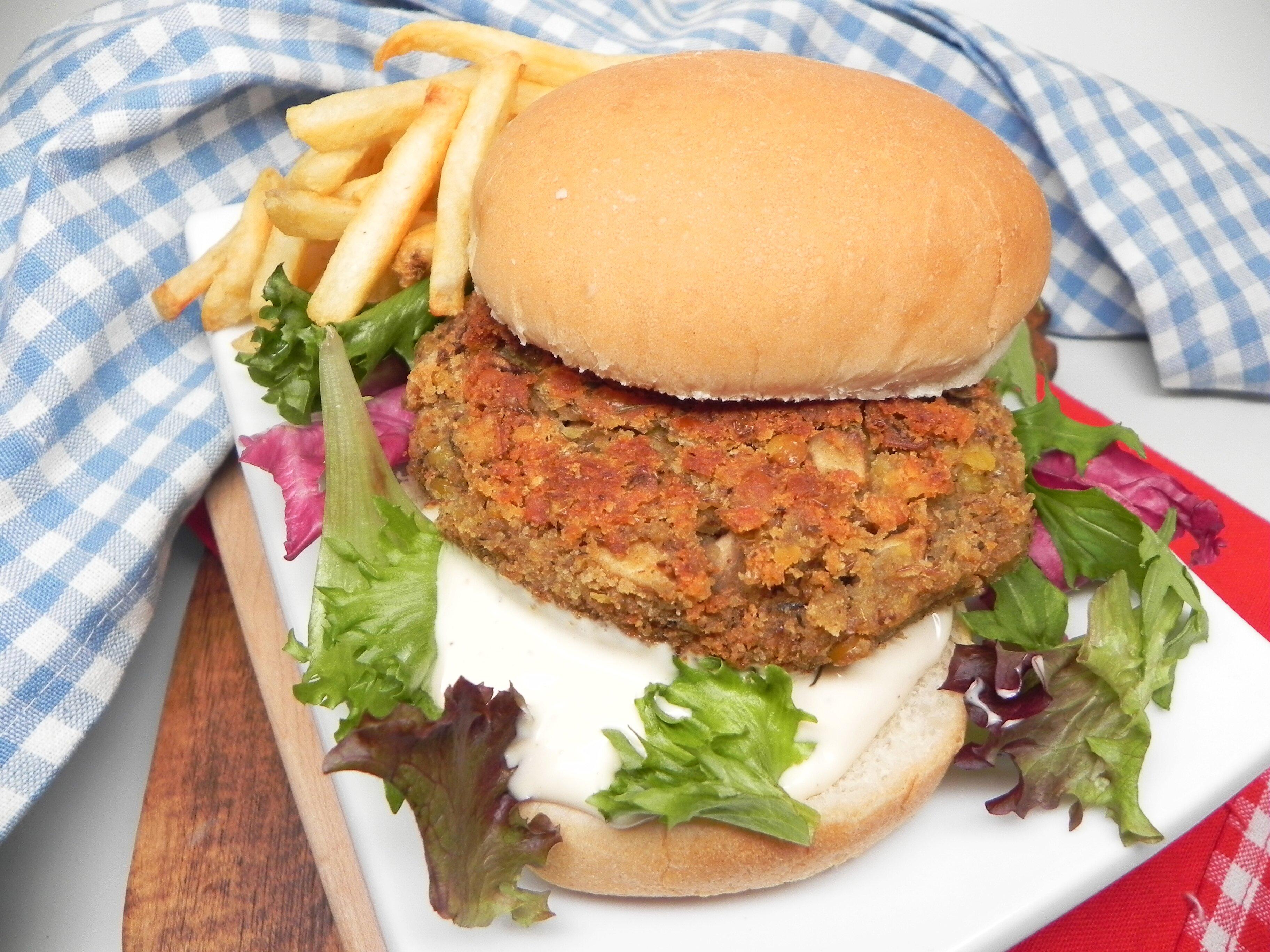 Mushroom Lentil Burgers Recipe Allrecipes