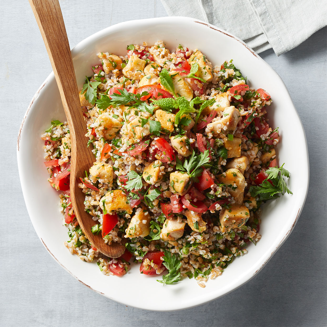 Tabbouleh with Pan-Seared Chicken Hilary Meyer