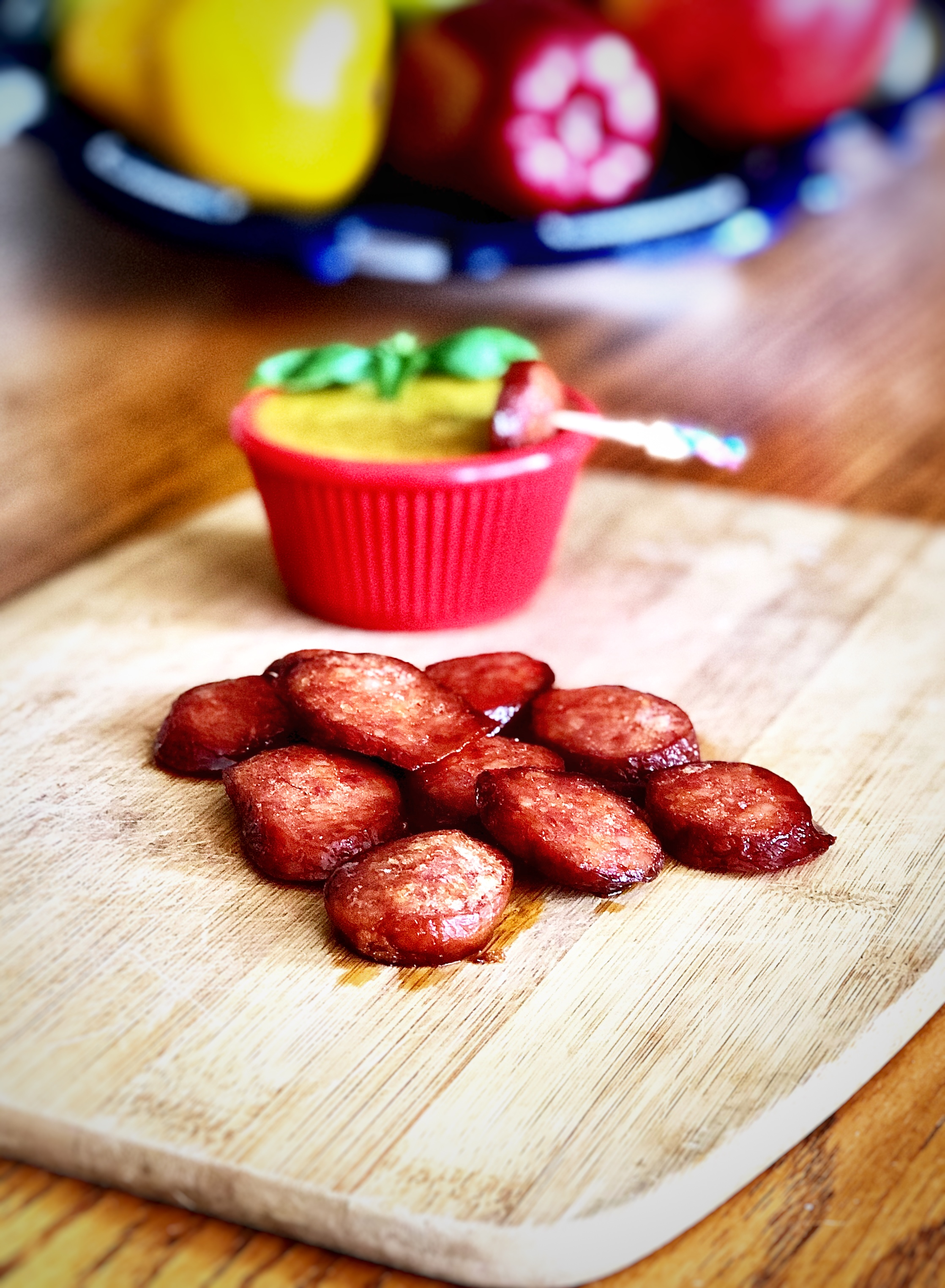 Snack Dippers with Hillshire Farm® Smoked Sausage and Honey Mustard