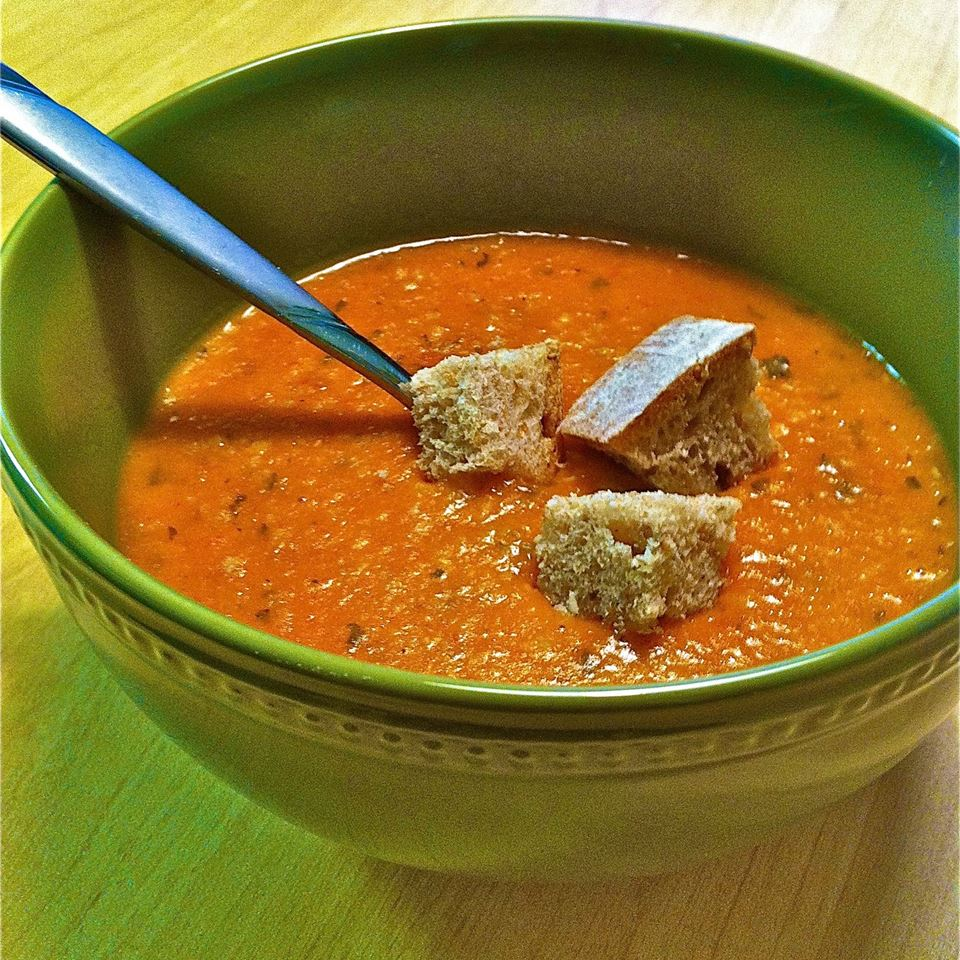 Turkish Red Lentil Soup with Mint