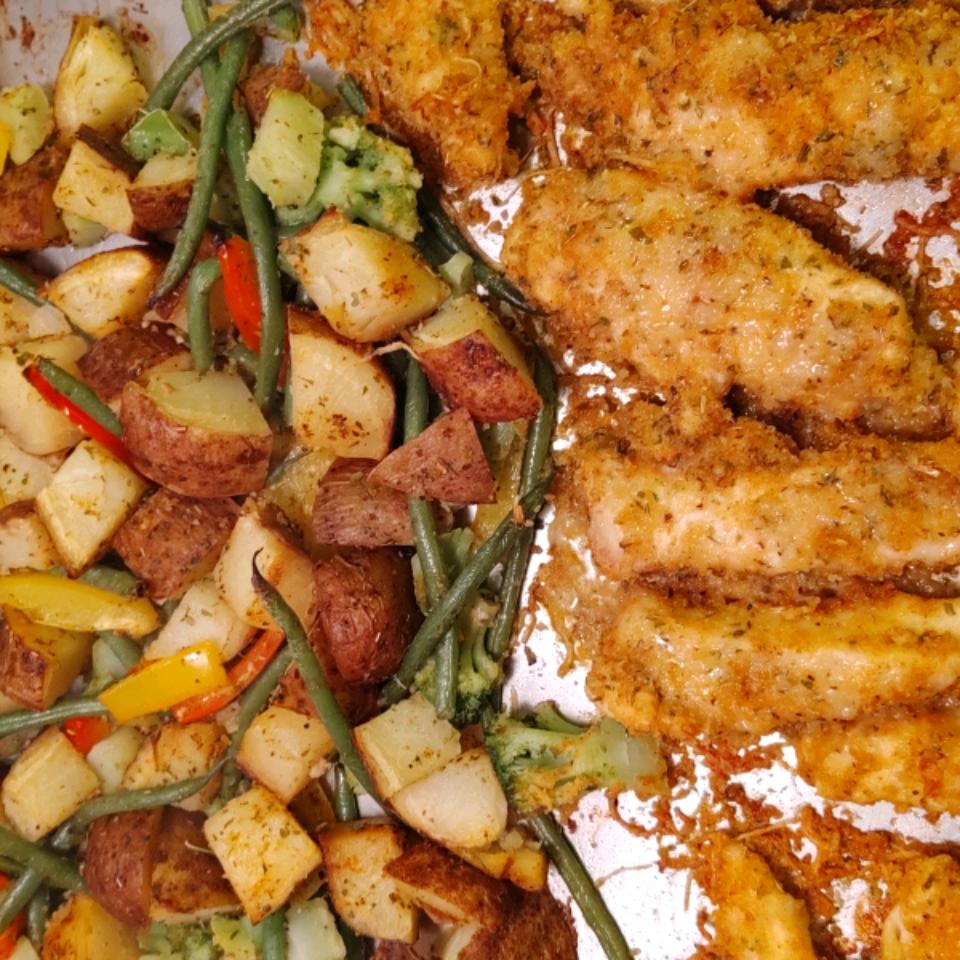 Sheet Pan Parmesan Chicken and Veggies Cindi Byrd