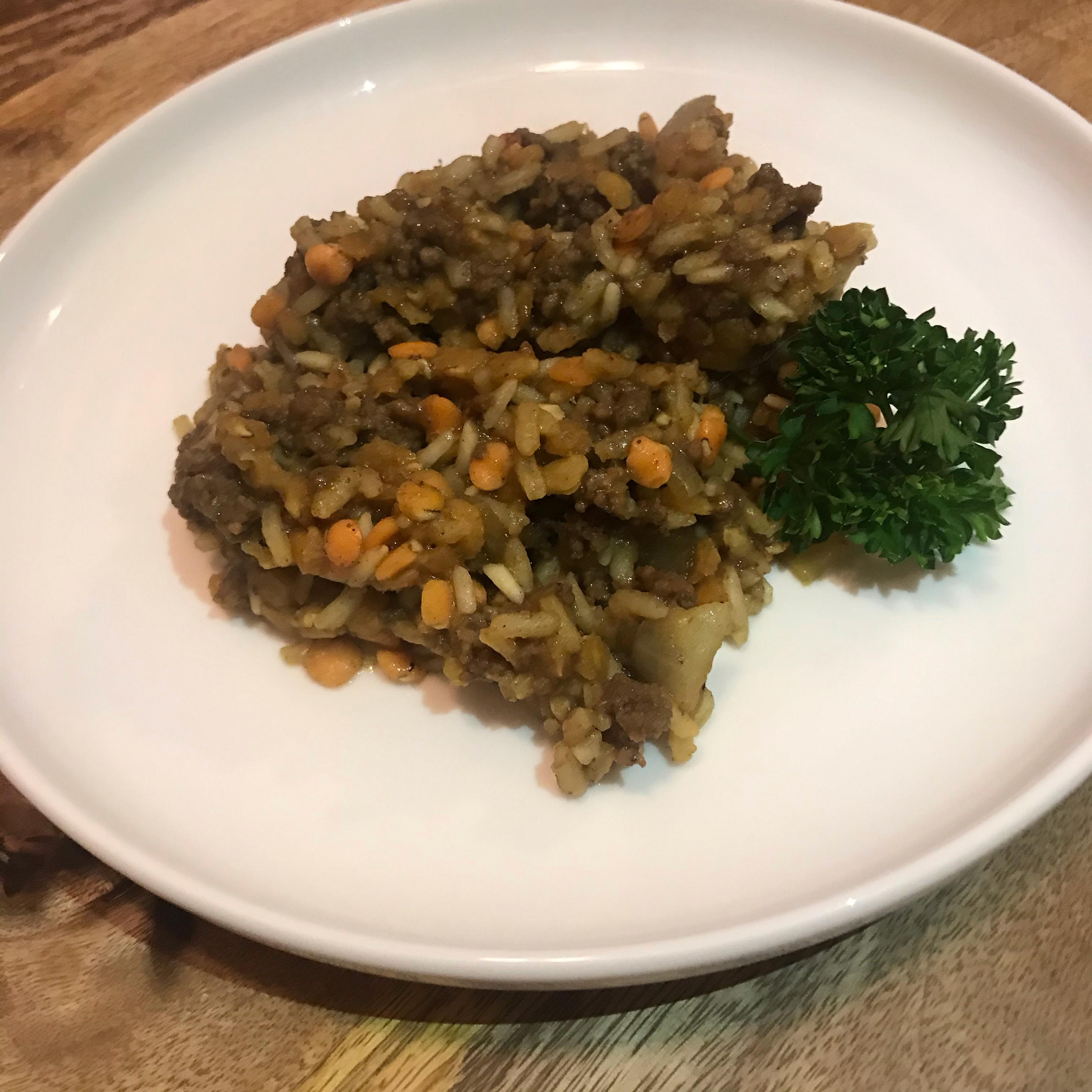 Ground BeefLentil Curry
