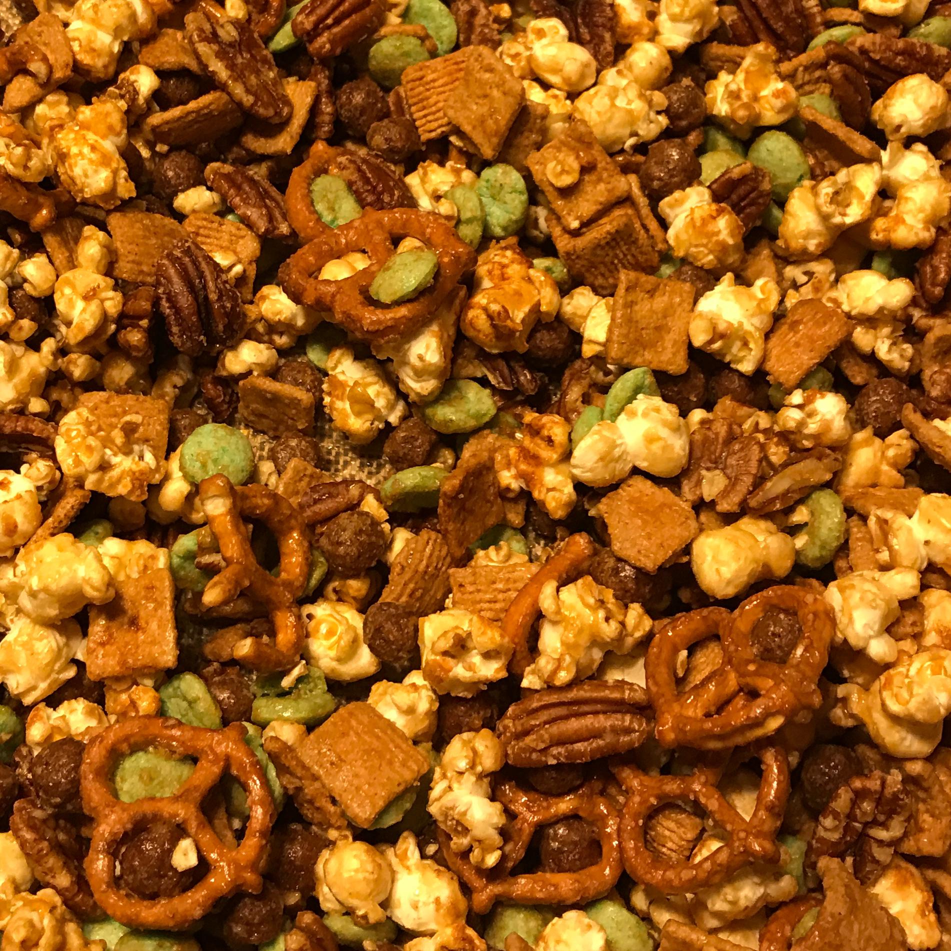 Caramel Corn Snack Mix Marlene Breeding