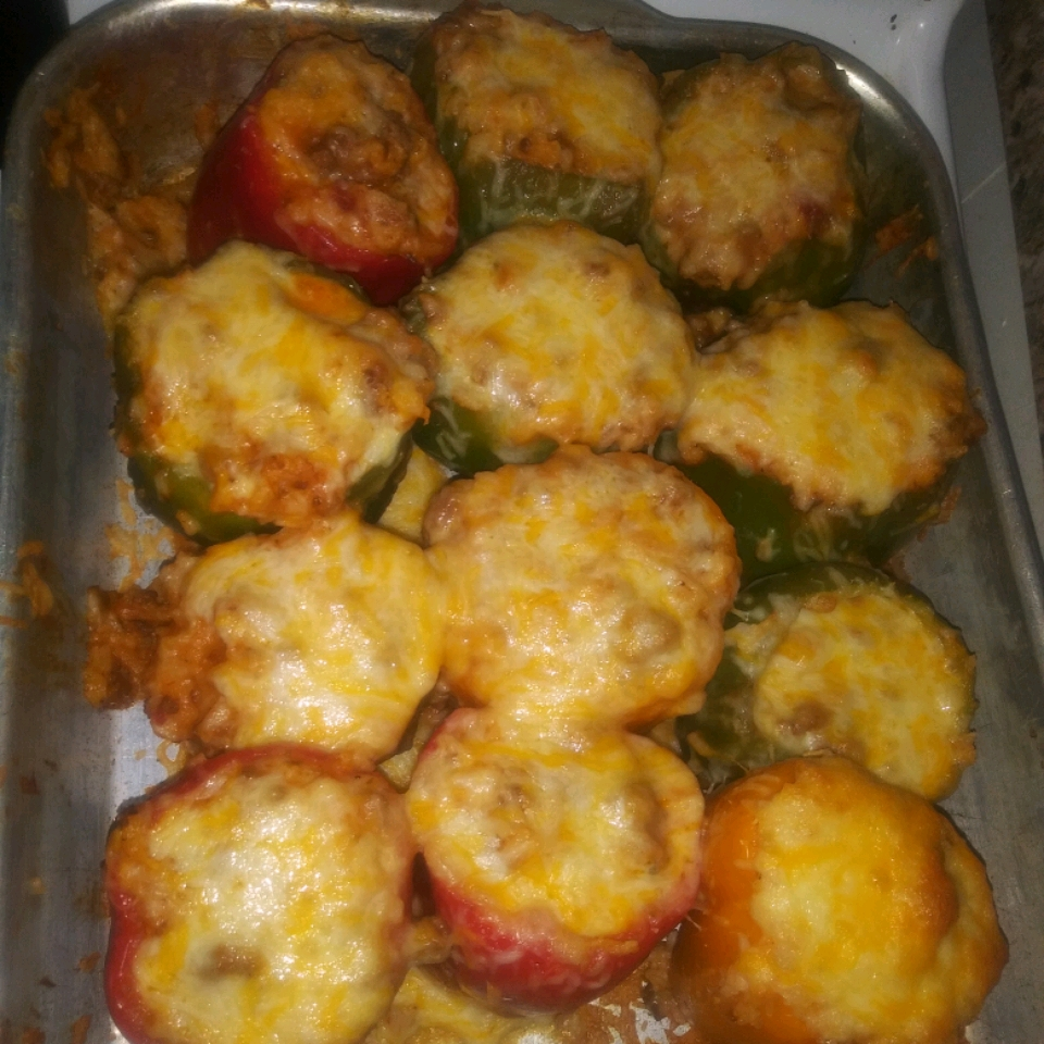 Beef and Rice Stuffed Bell Peppers LadyB