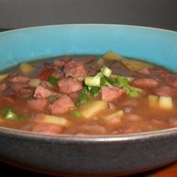 Black Bean, Sausage, and Sweet Potato Soup kellieann