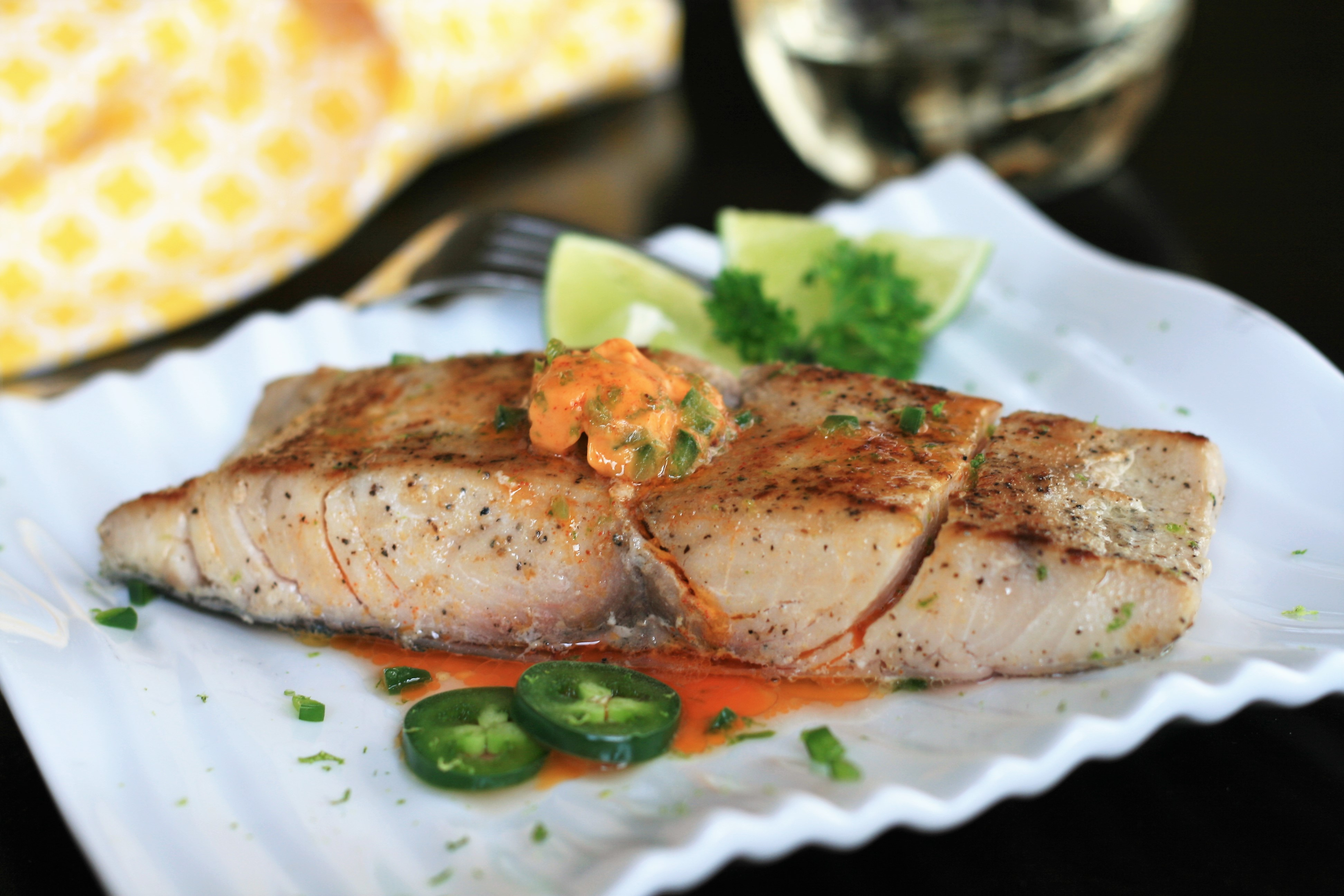 Sous Vide Mahi Mahi with Jalapeno-Lime Butter