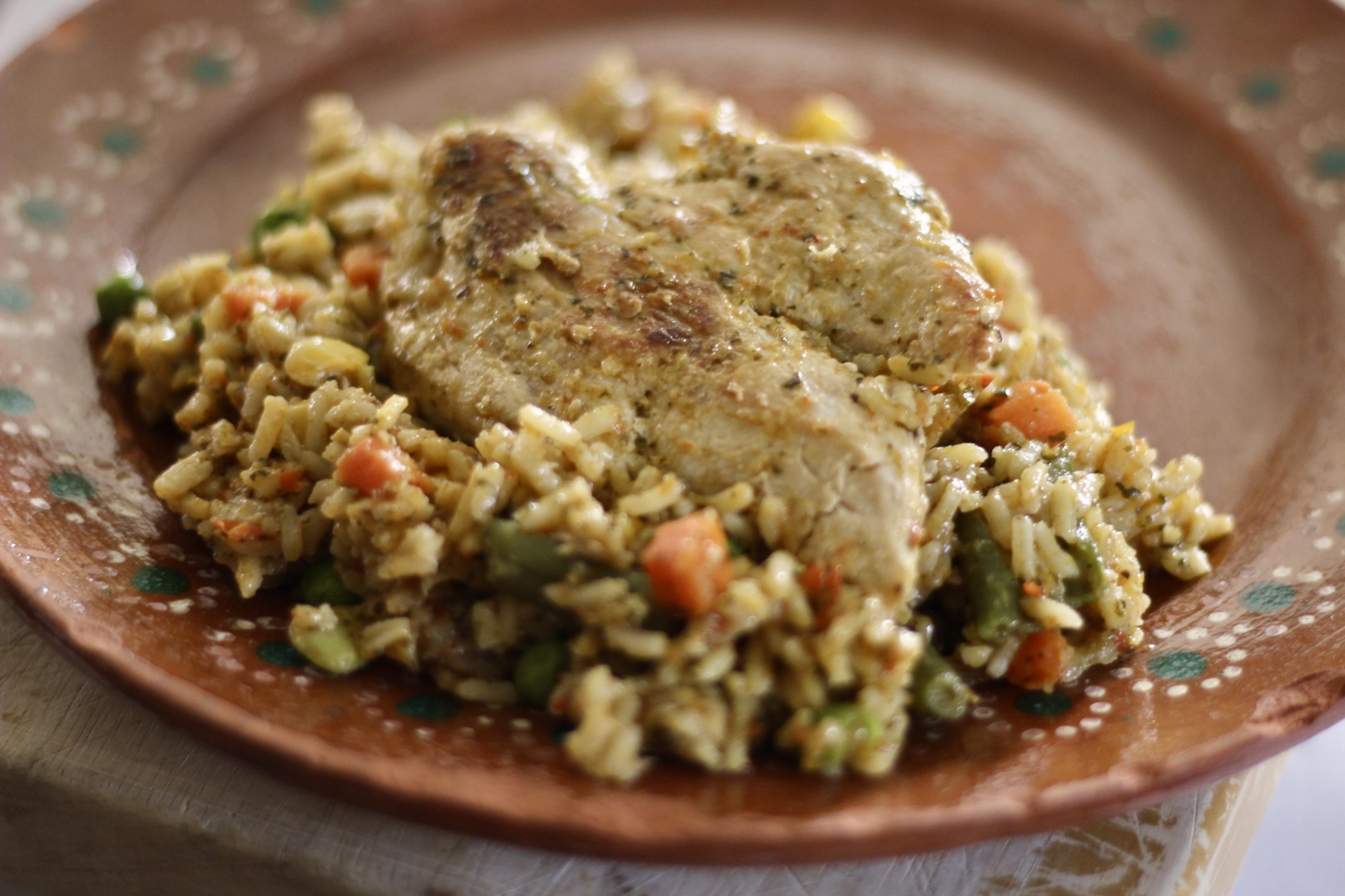 Peruvian Arroz con Pollo (Peruvian Rice and Chicken)