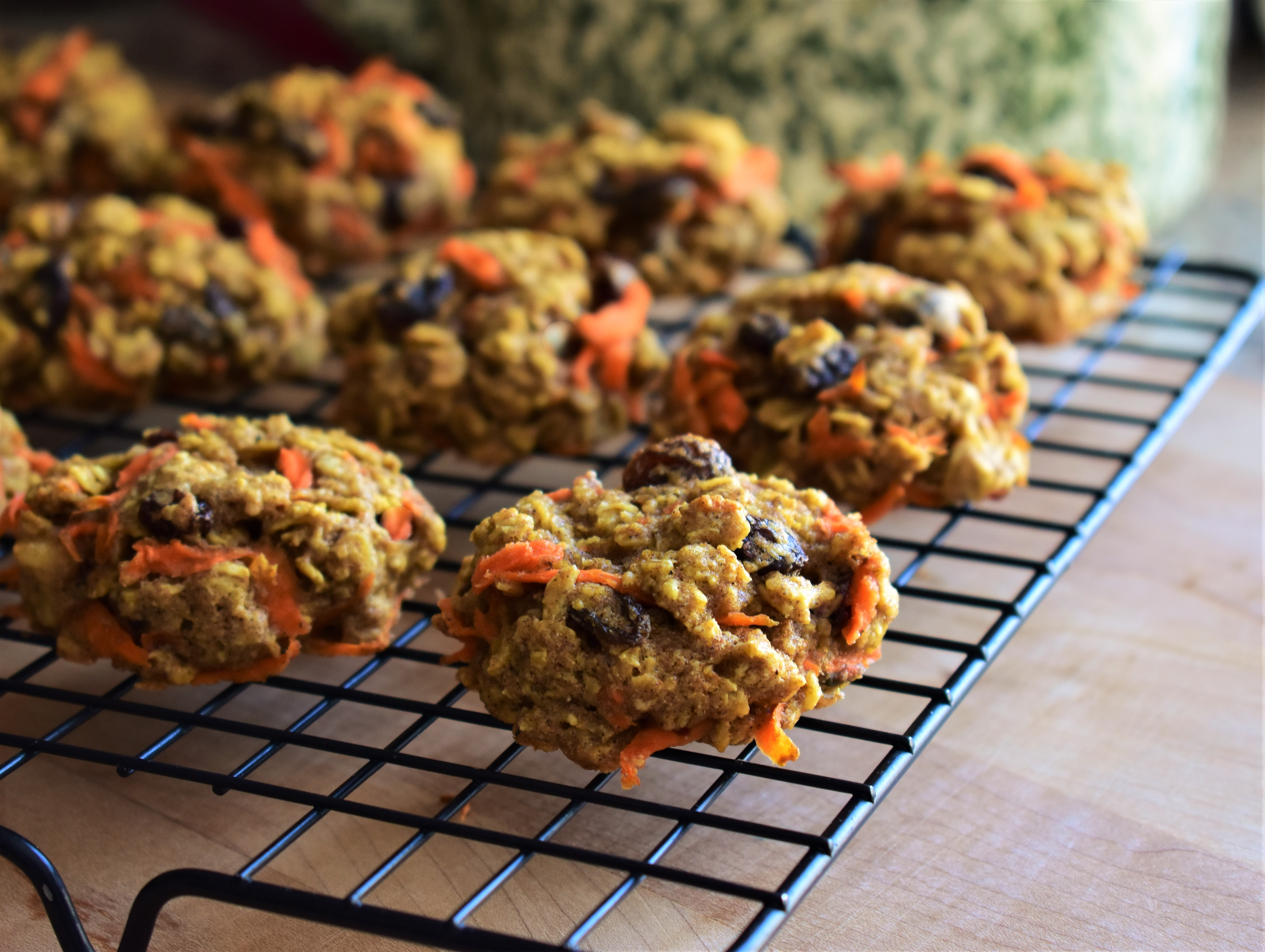 Healthier Carrot Oatmeal Cookies