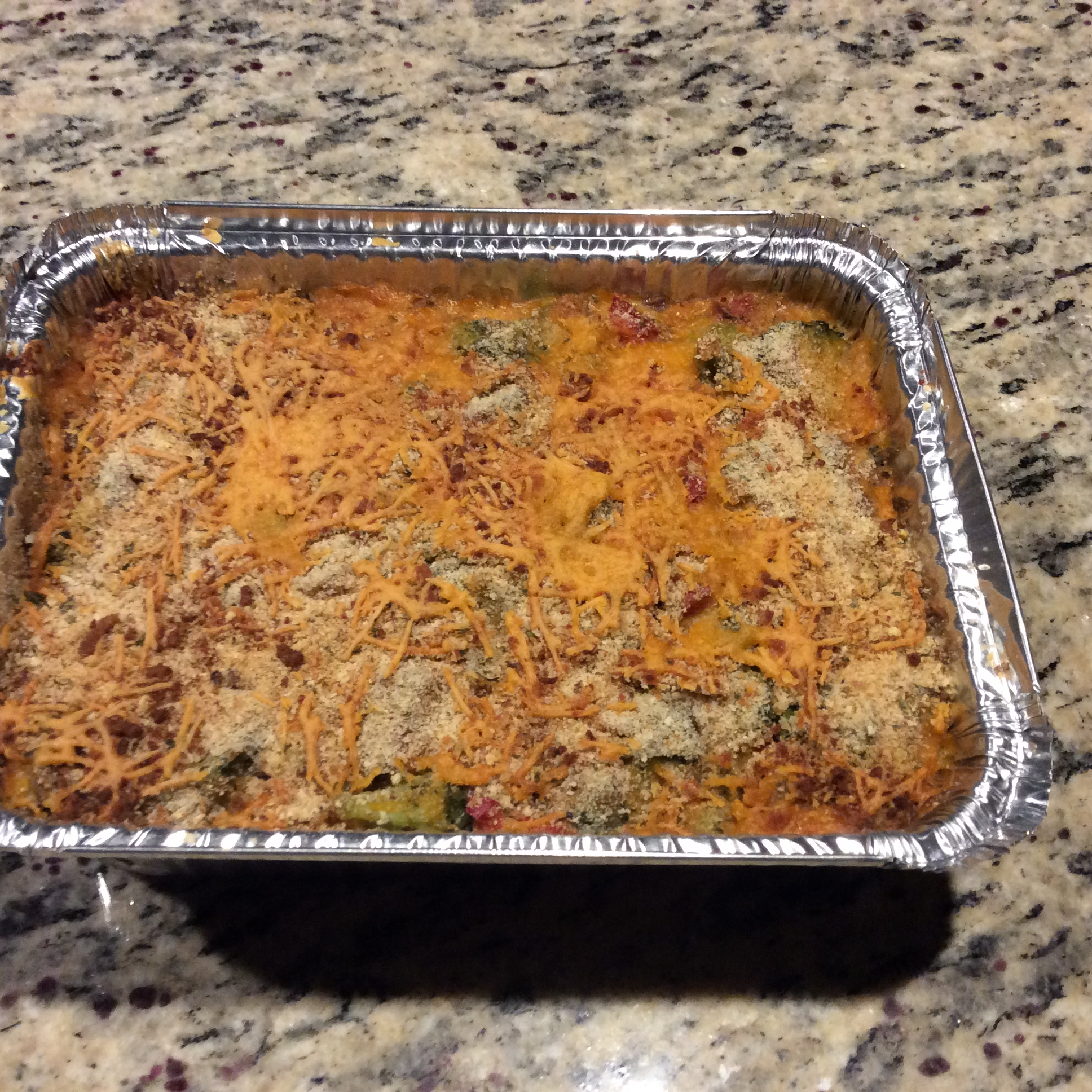 Healthy Broccoli Cheese Bake