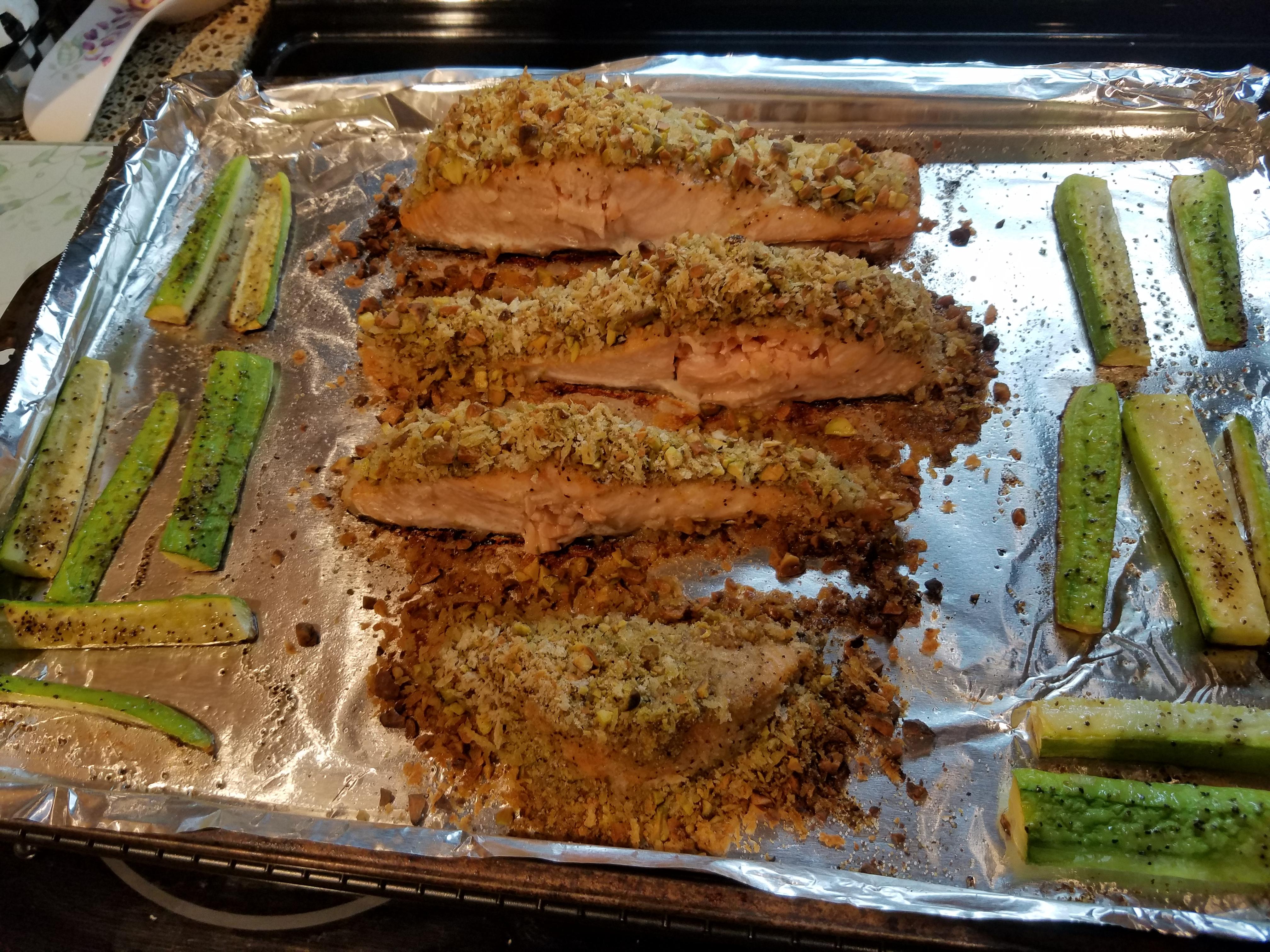 Oven-Roasted Pistachio-Crusted Salmon Ellen P