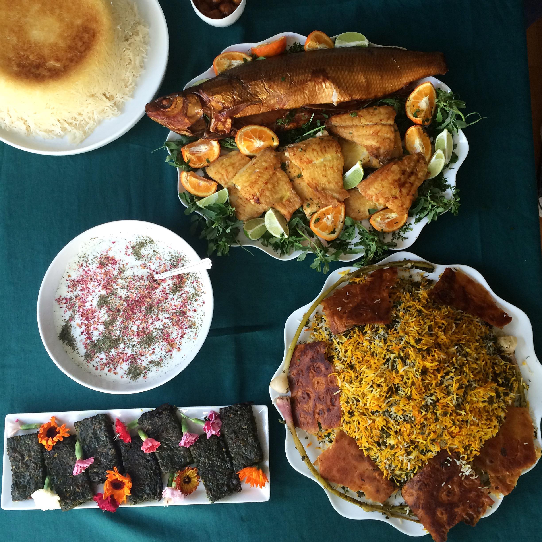 Sabzi Polo (Green Herb Rice) Naz Deravian