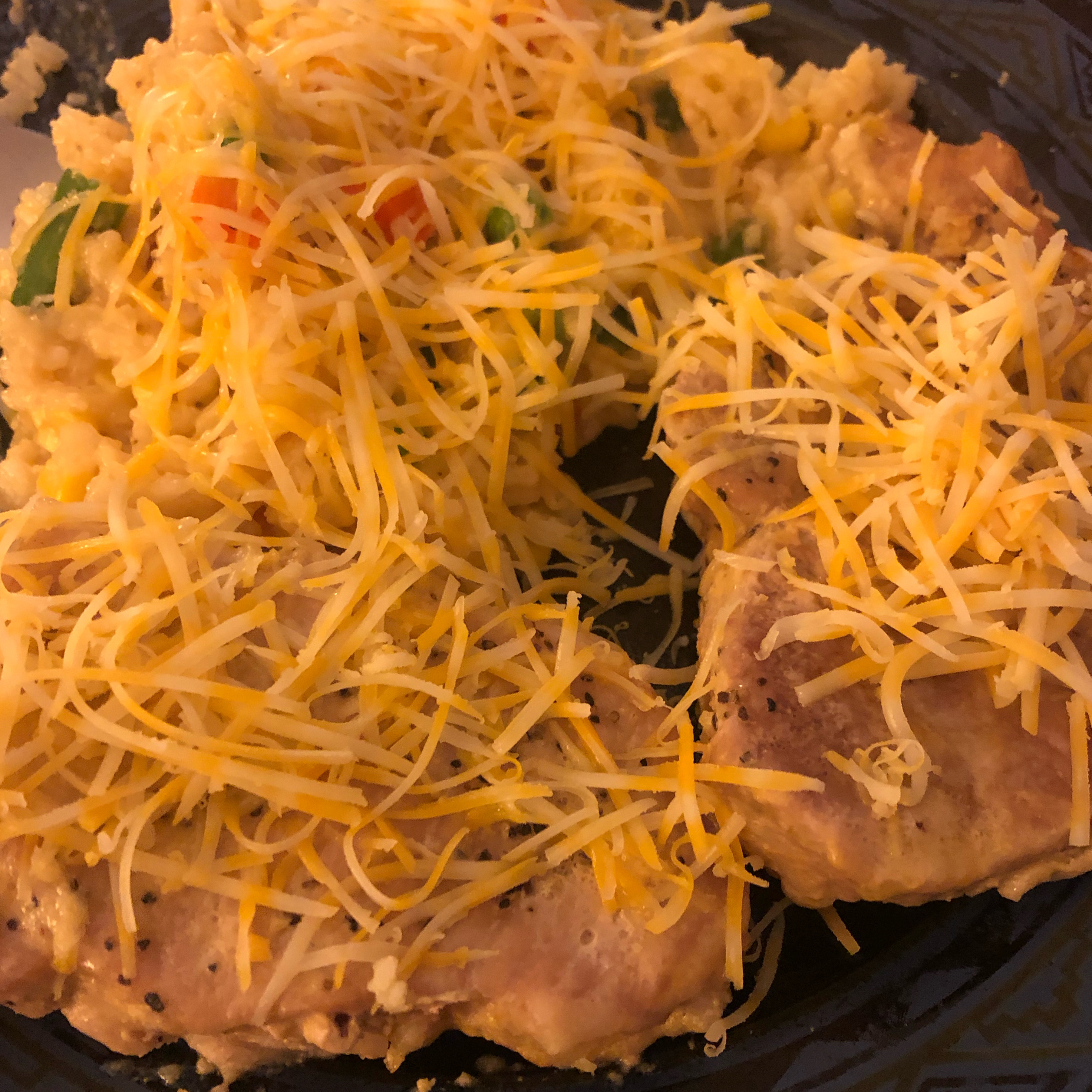 Pork Chop and Cheesy Rice Casserole Amie Yeager