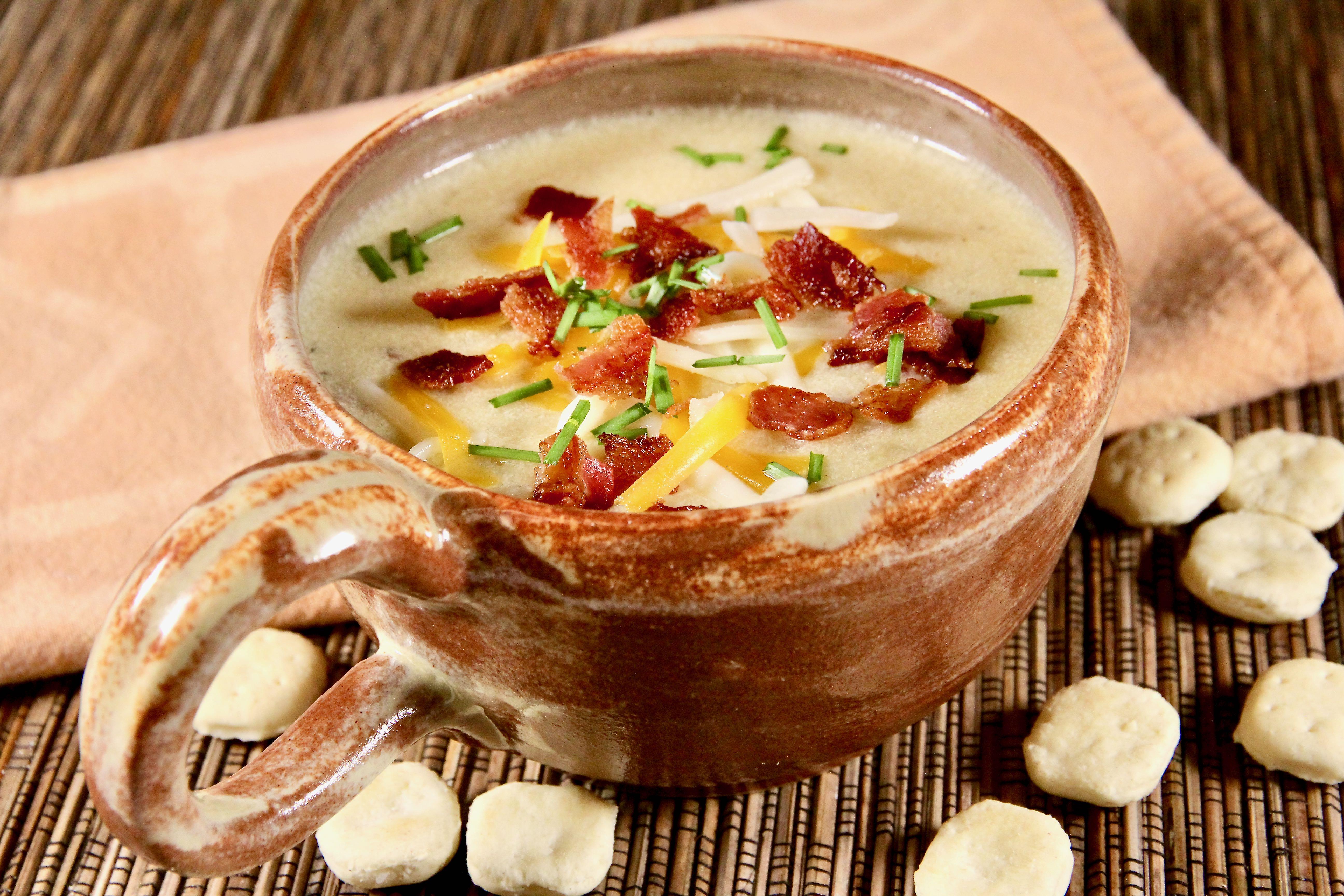 Slow Cooker Potato-Bacon Soup lutzflcat