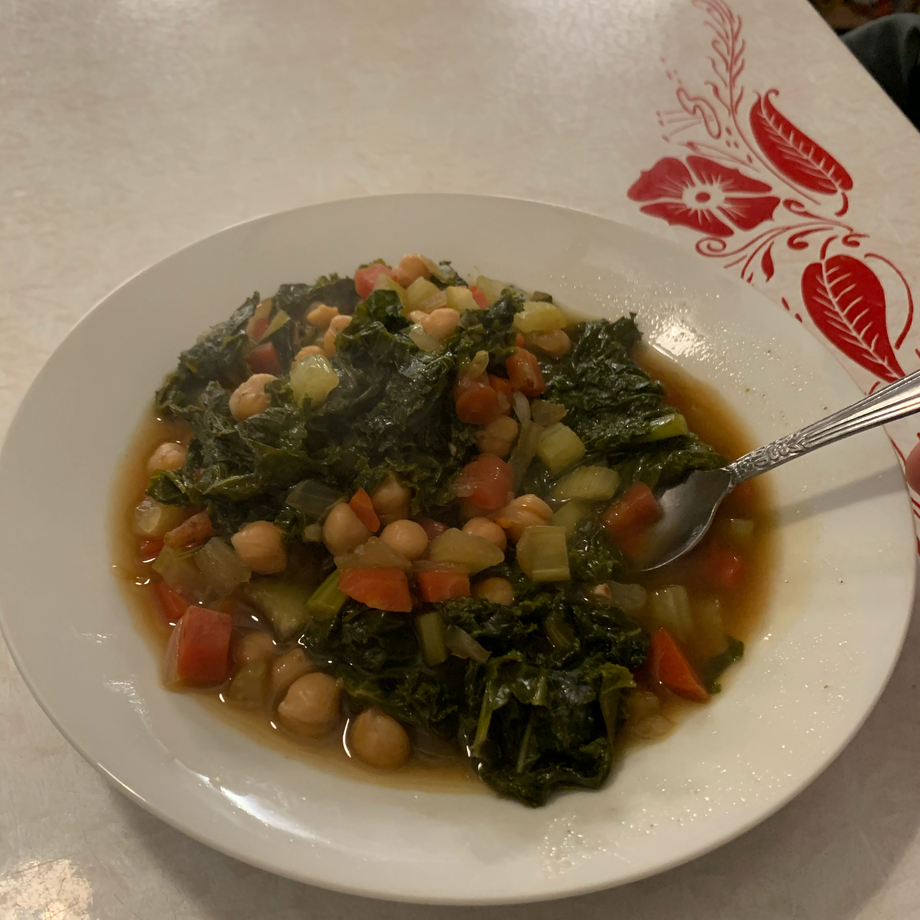 April's Spicy Chickpea Soup with Kale hildy