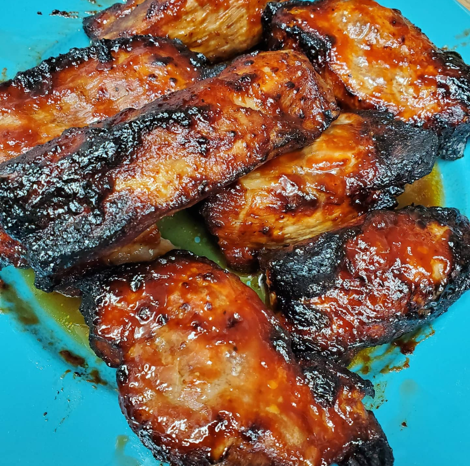 Air Fryer BBQ Baby Back Ribs Frank Lessary
