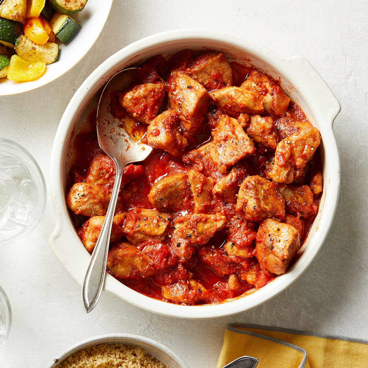 This Moroccan chicken stew is inspired by a traditional tagine, a dish which takes its name from the pottery vessel it's made in (a skillet works here). Serve with a side of roasted vegetables and whole-wheat couscous, if desired. Source: Diabetic Living Magazine, Spring 2020