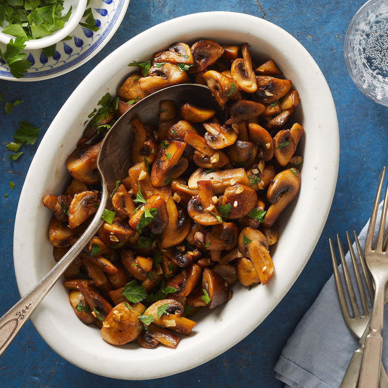 Enjoy these savory mushrooms as a topping for steak or burgers, or on their own as a rich umami side dish. Source: EatingWell.com, March 2020